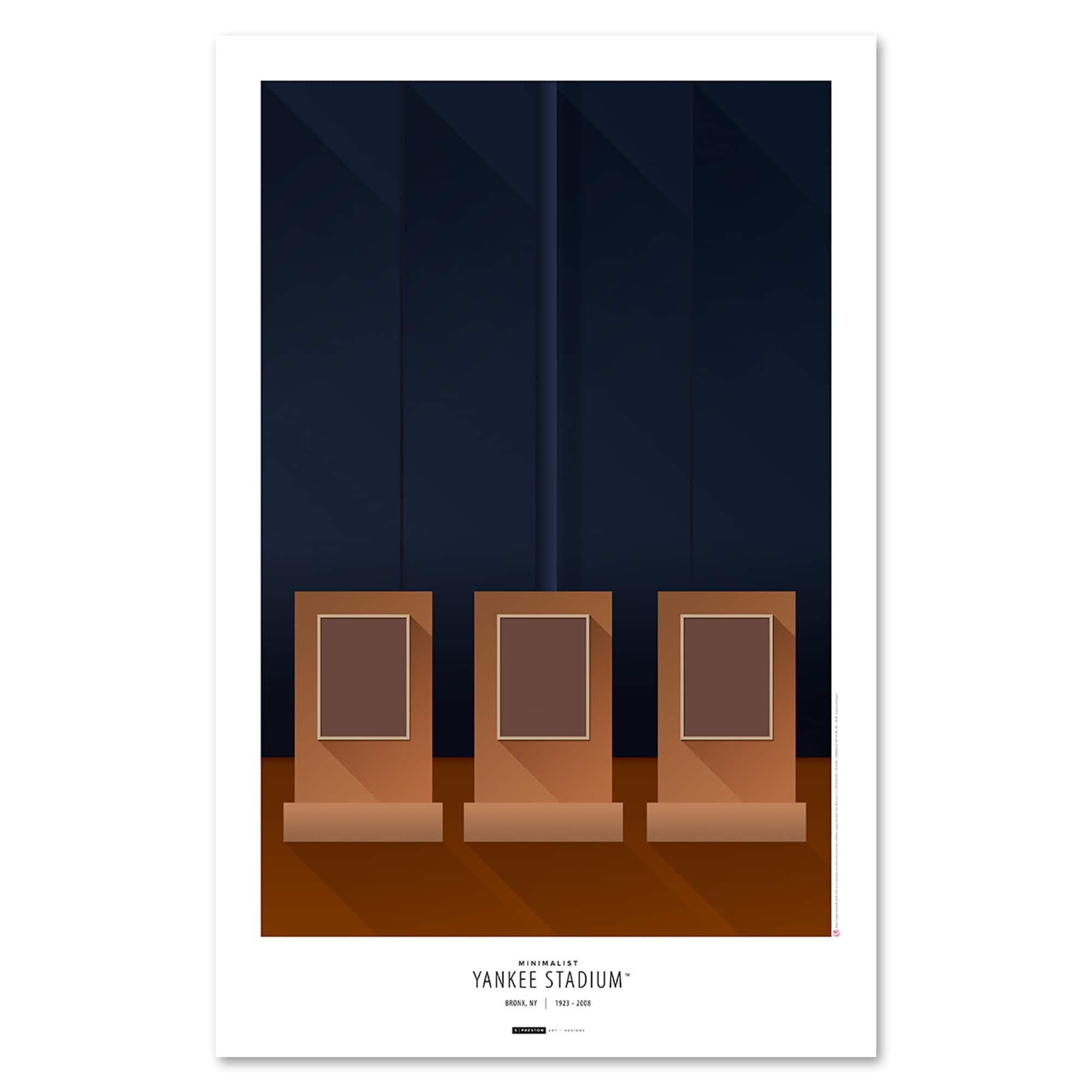 New York Yankees 11'' x 17'' Minimalist Yankee Stadium Art Poster