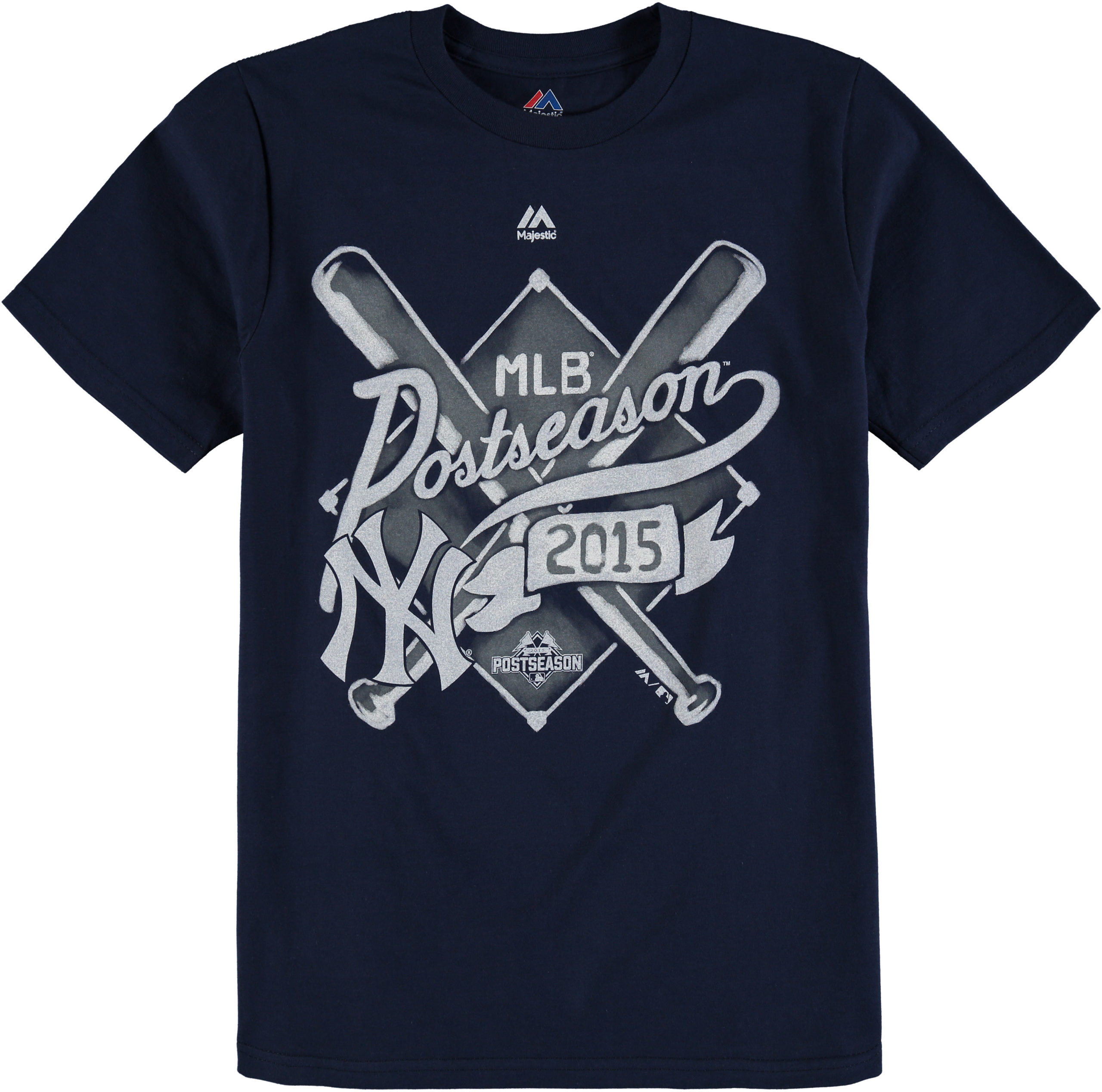 New York Yankees Majestic Youth 2015 Postseason Team Ambition T-Shirt - Navy