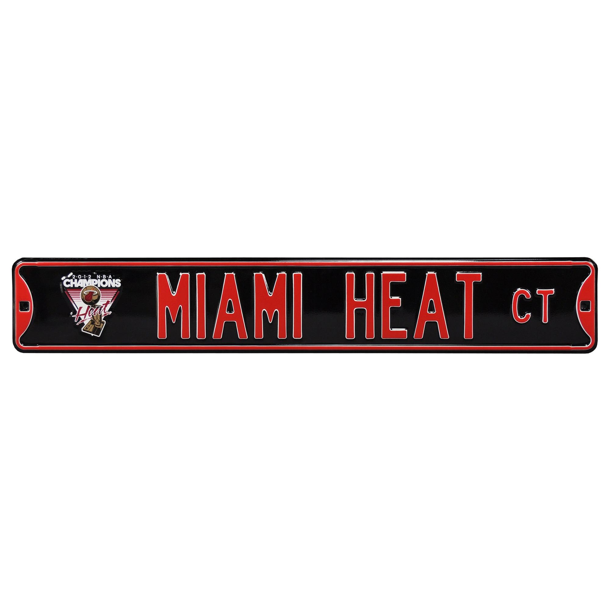 Miami Heat 2012 NBA Finals Champions Steel Street Sign