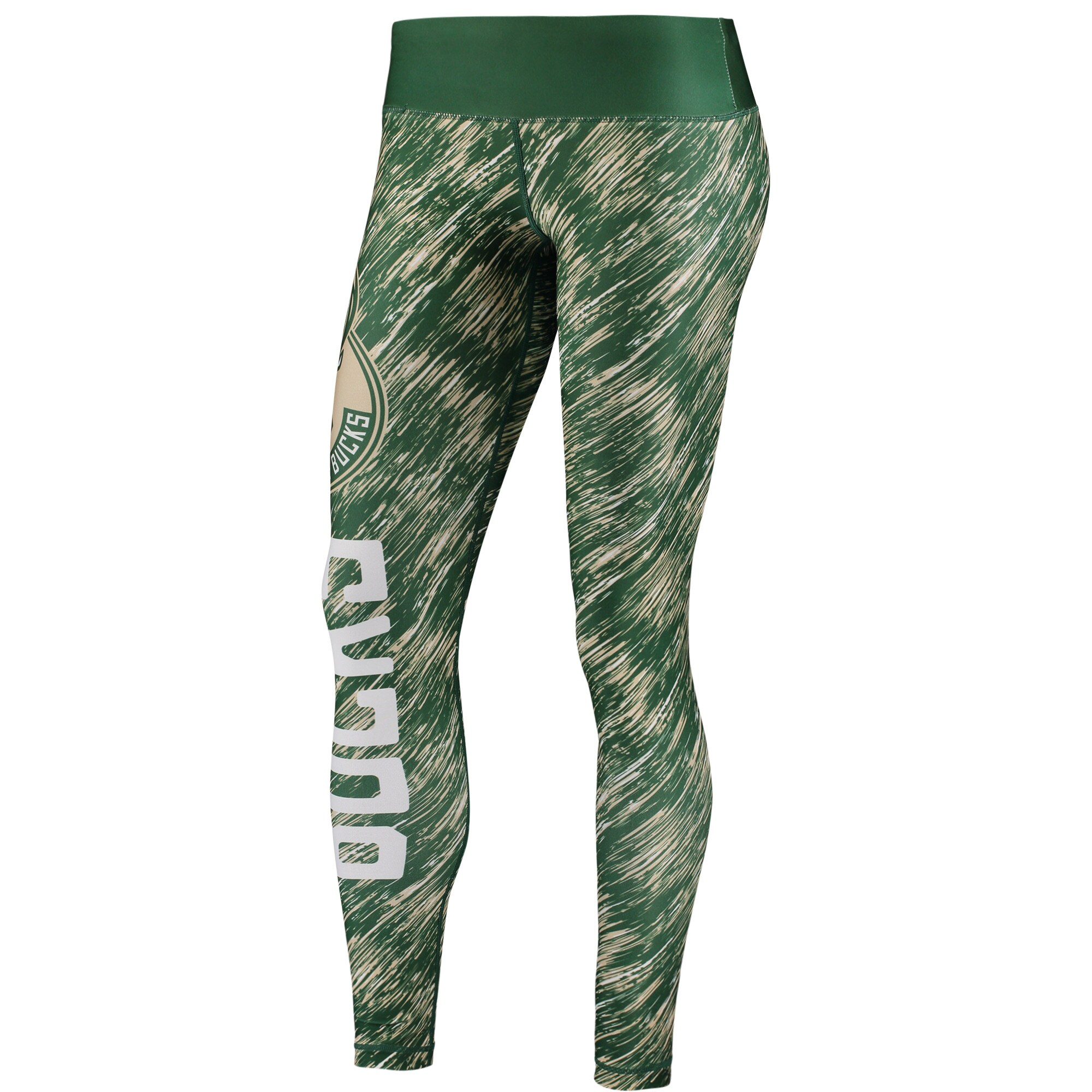 Milwaukee Bucks Women's Static Rain Leggings - Green