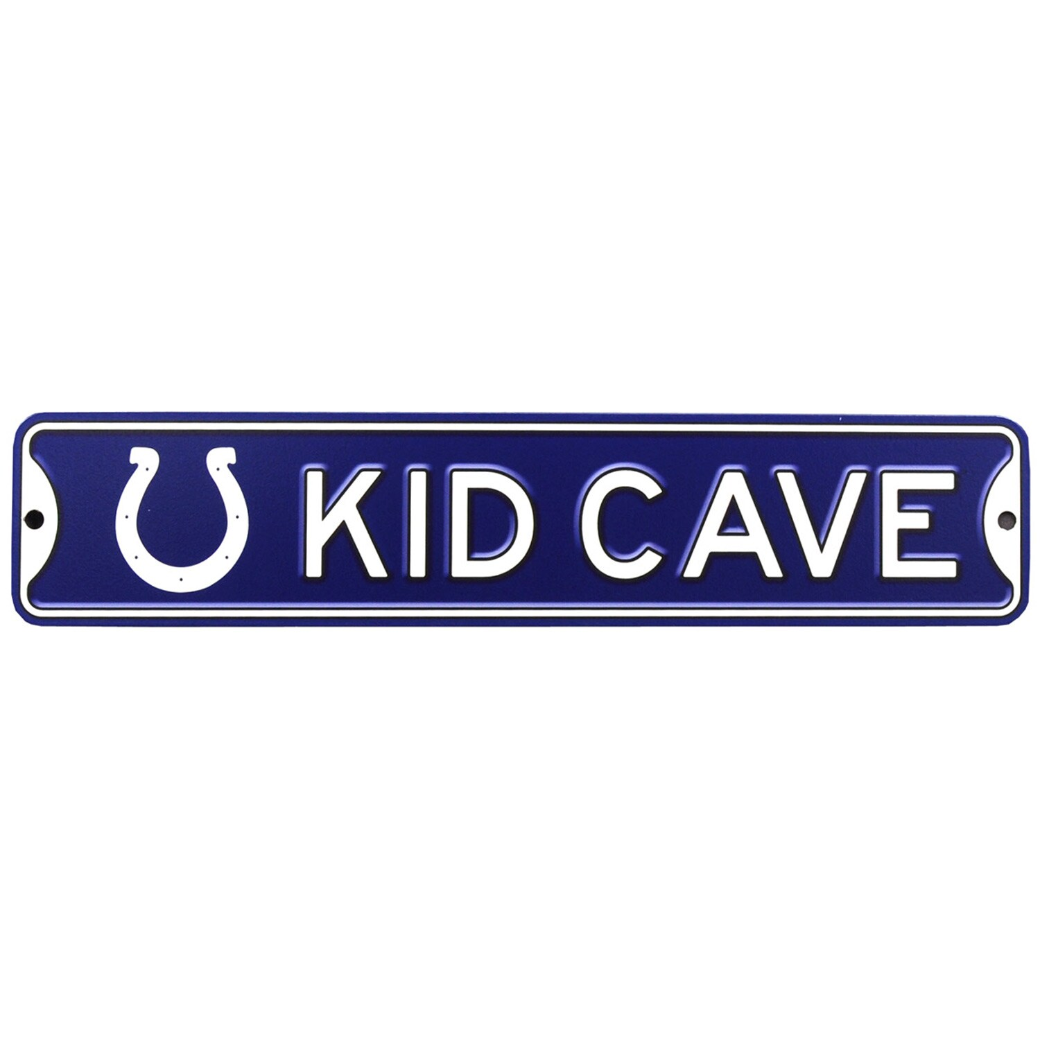 Indianapolis Colts 16'' Mini Steel Kid Cave Street Sign
