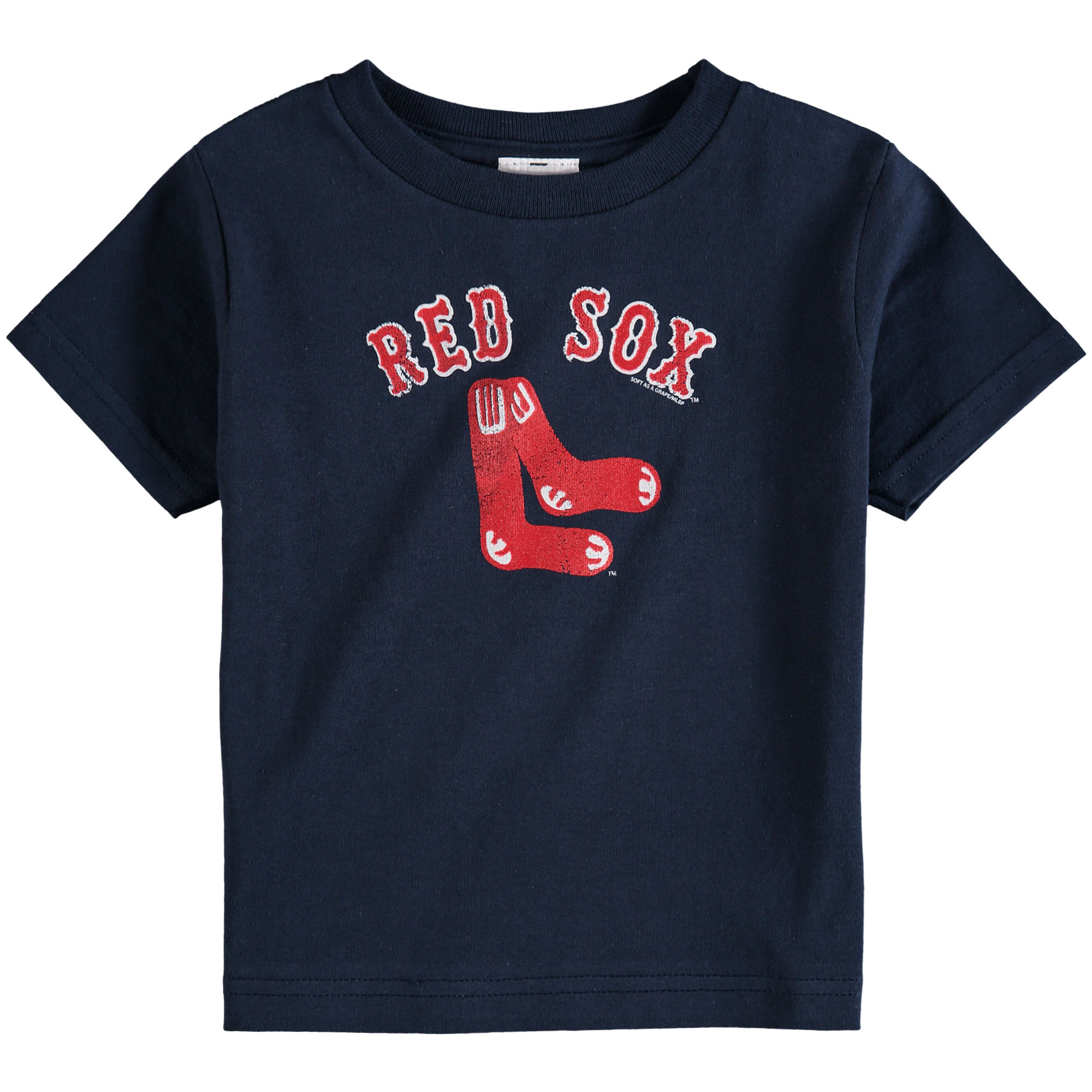 Boston Red Sox Soft As A Grape Toddler Cooperstown Collection Shutout T-Shirt - Navy