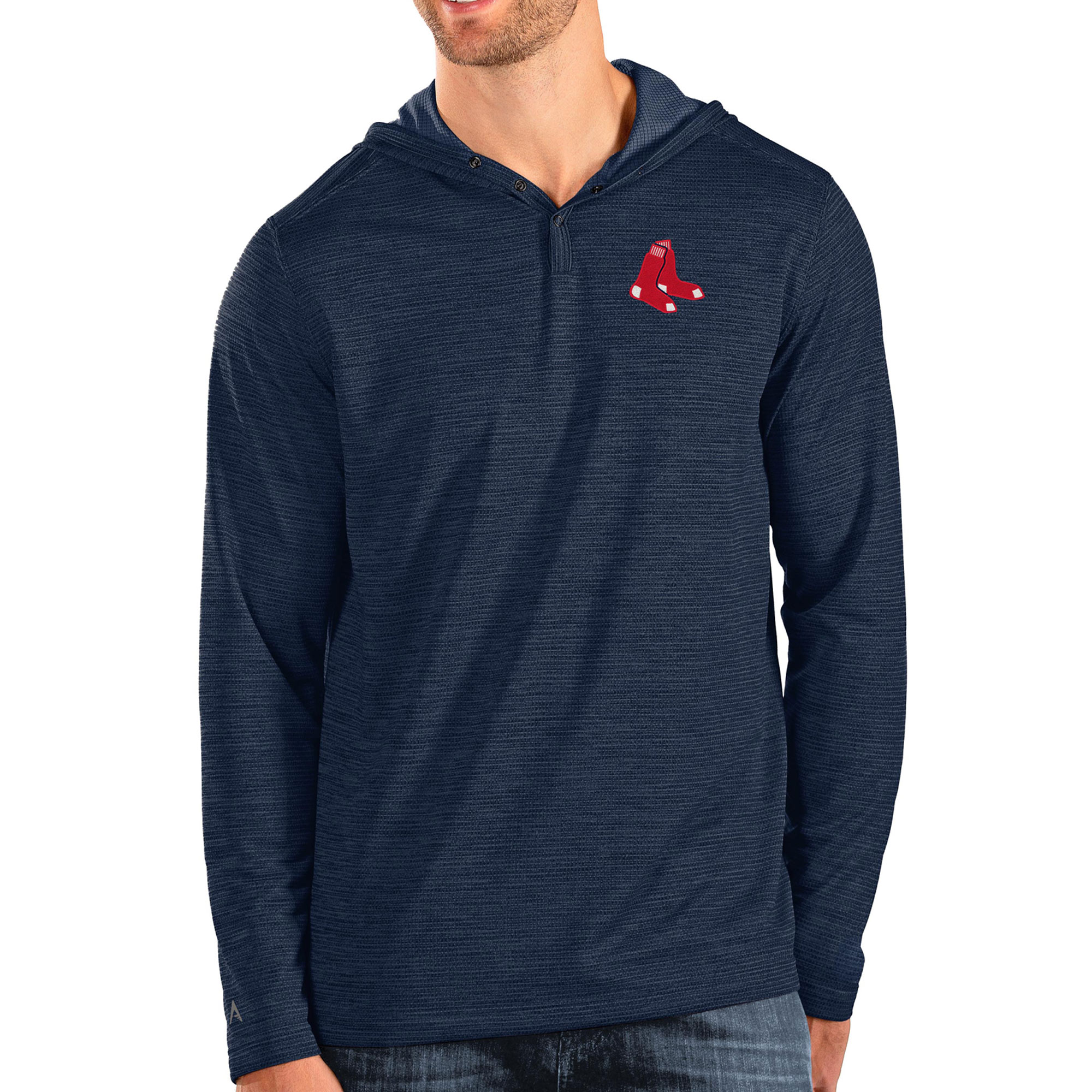 Boston Red Sox Antigua Fuel Pullover Hoodie - Navy