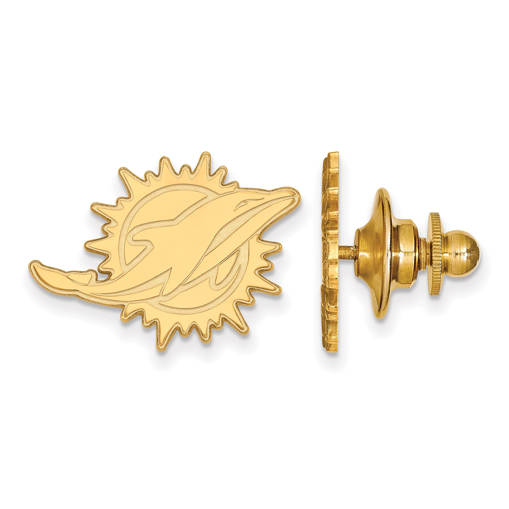 Miami Dolphins Gold-Plated Logo Lapel Pin