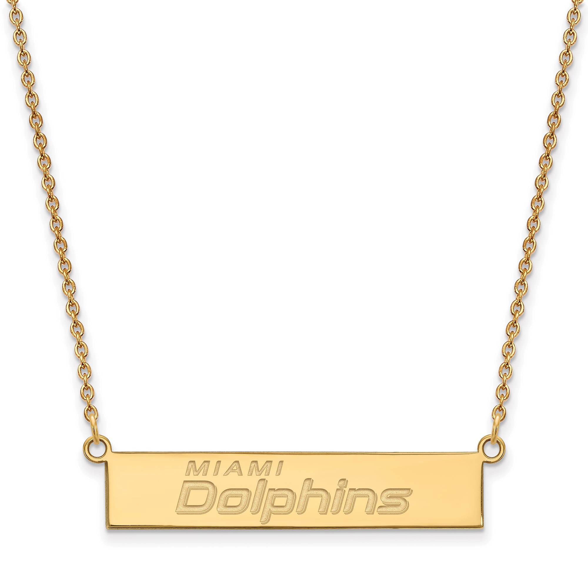 Miami Dolphins Gold-Plated Bar Necklace