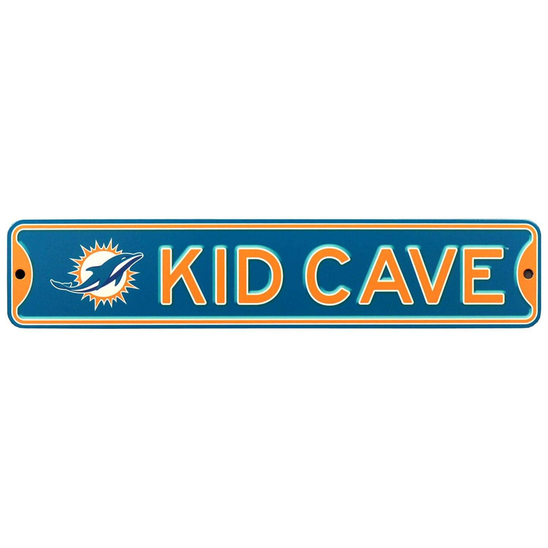 Miami Dolphins 16'' Mini Steel Kid Cave Street Sign