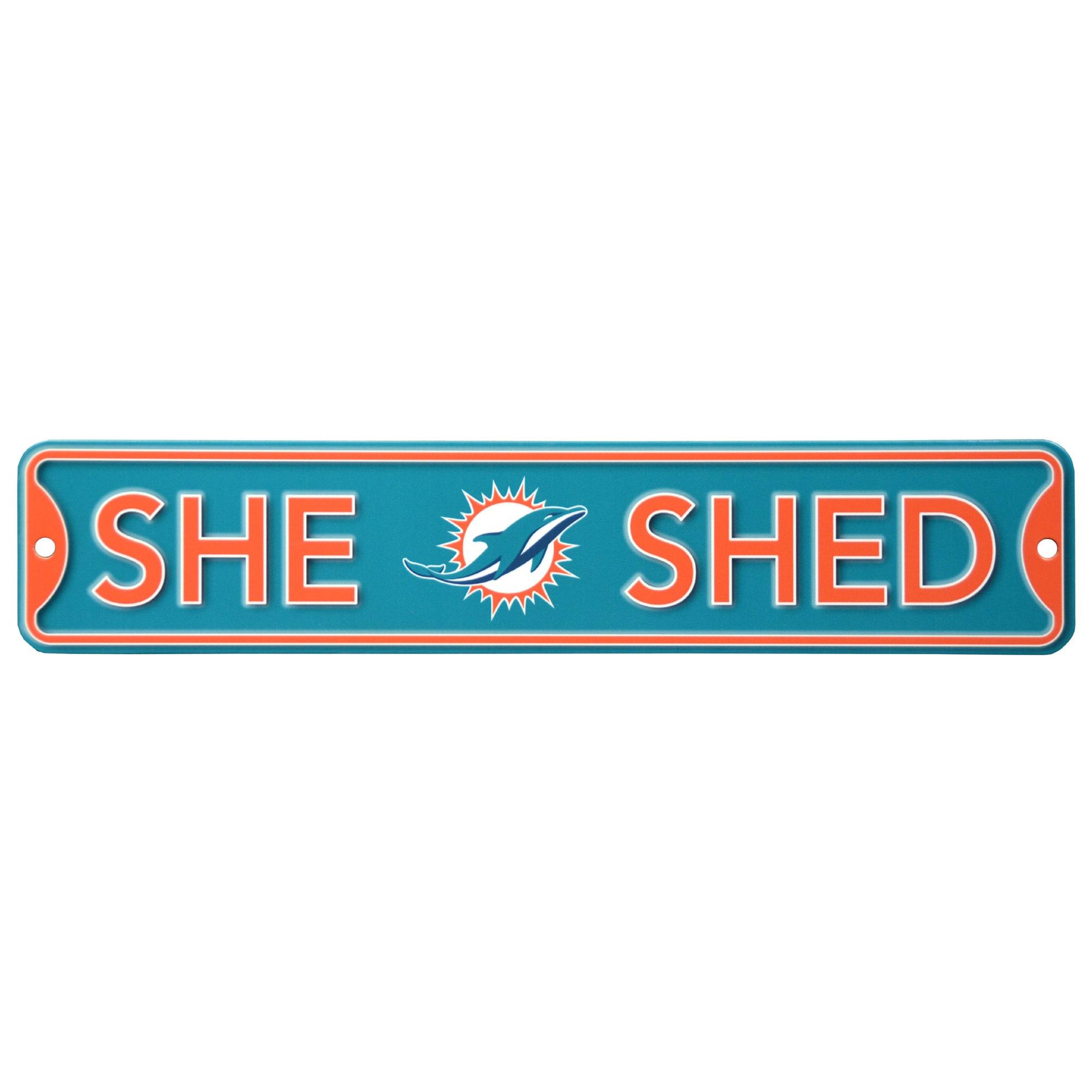 Miami Dolphins 16'' Mini Steel Street Sign