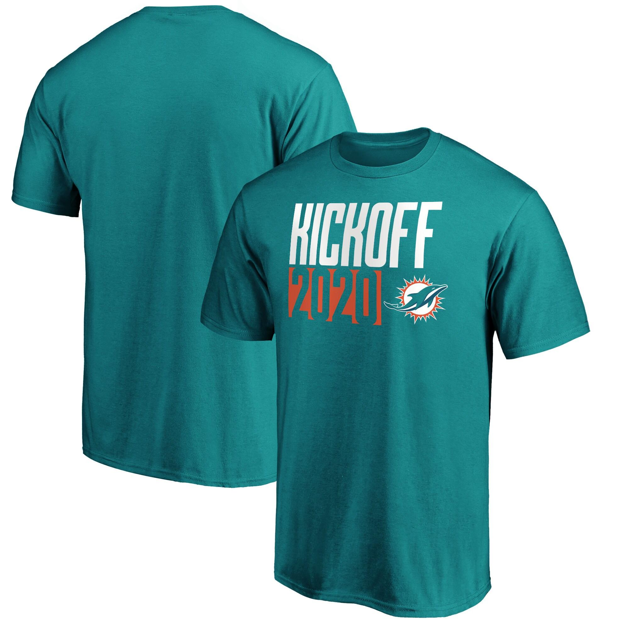 Miami Dolphins Fanatics Branded Kickoff 2020 T-Shirt - Aqua