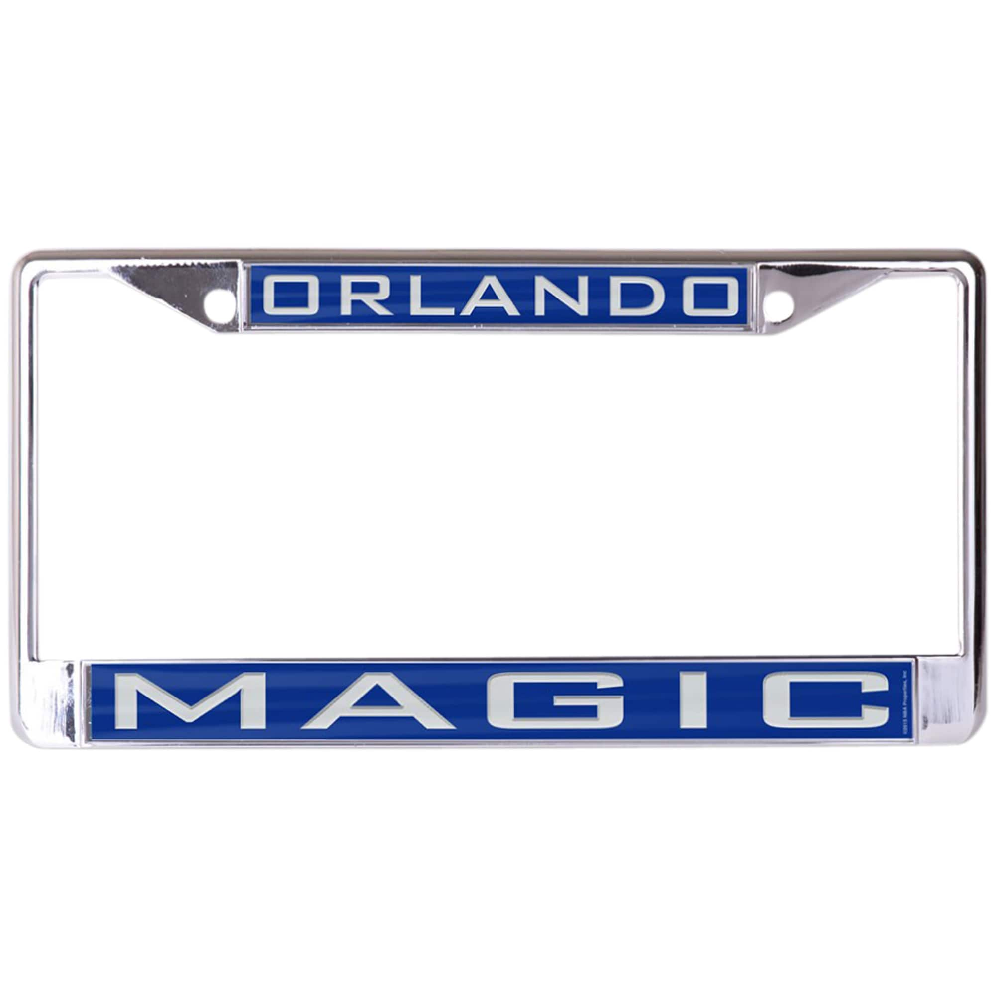 Orlando Magic WinCraft Laser Inlaid Metal License Plate Frame