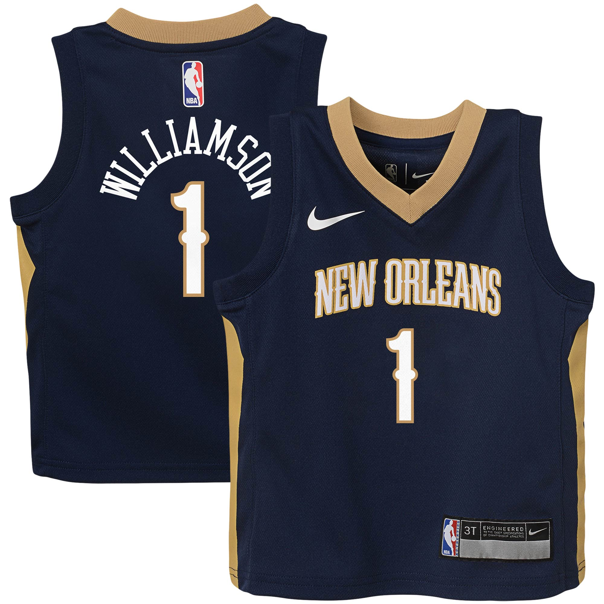 Zion Williamson New Orleans Pelicans Nike Toddler Replica Jersey - Icon Edition - Navy