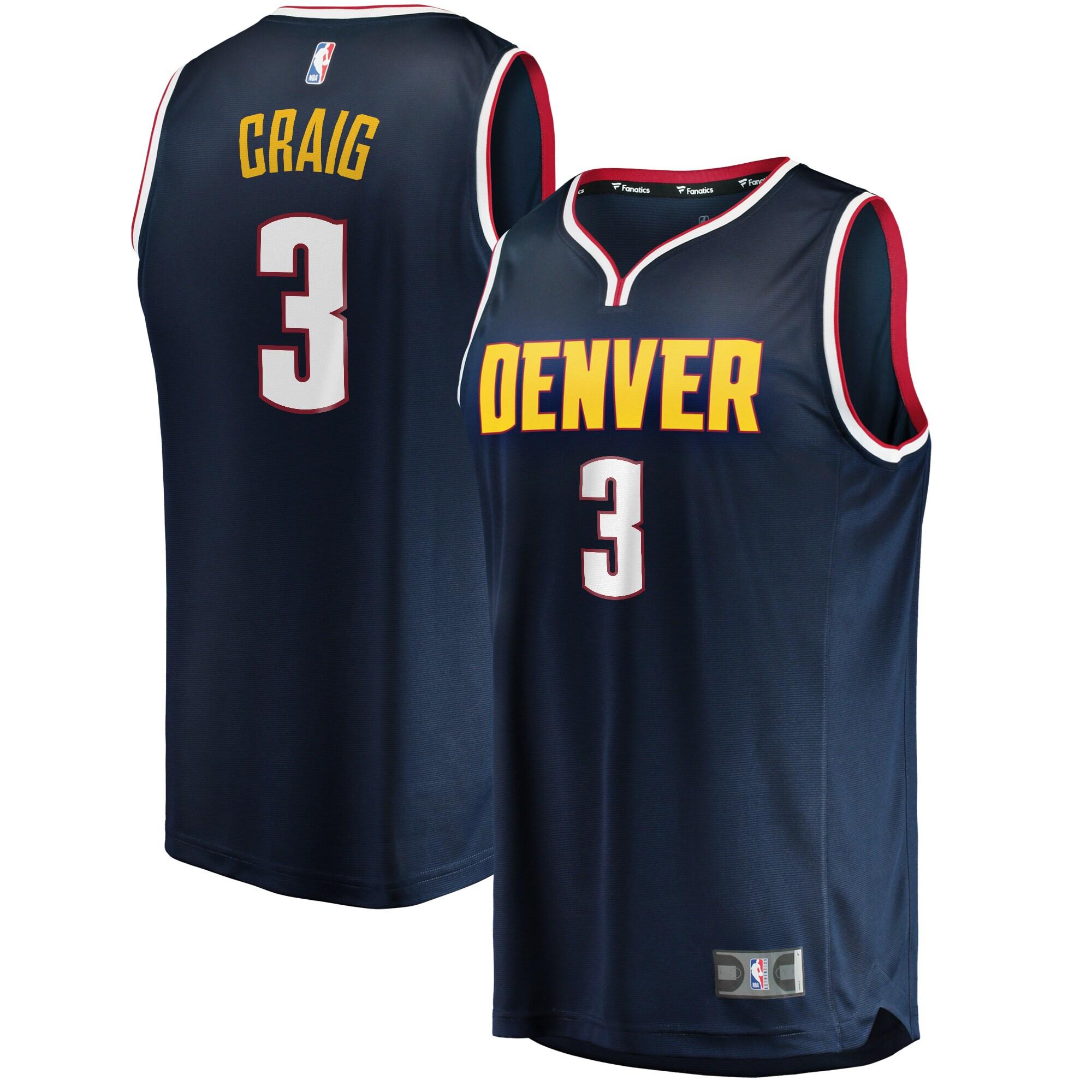 Torrey Craig Denver Nuggets Fanatics Branded Youth Fast Break Player Jersey - Icon Edition - Navy
