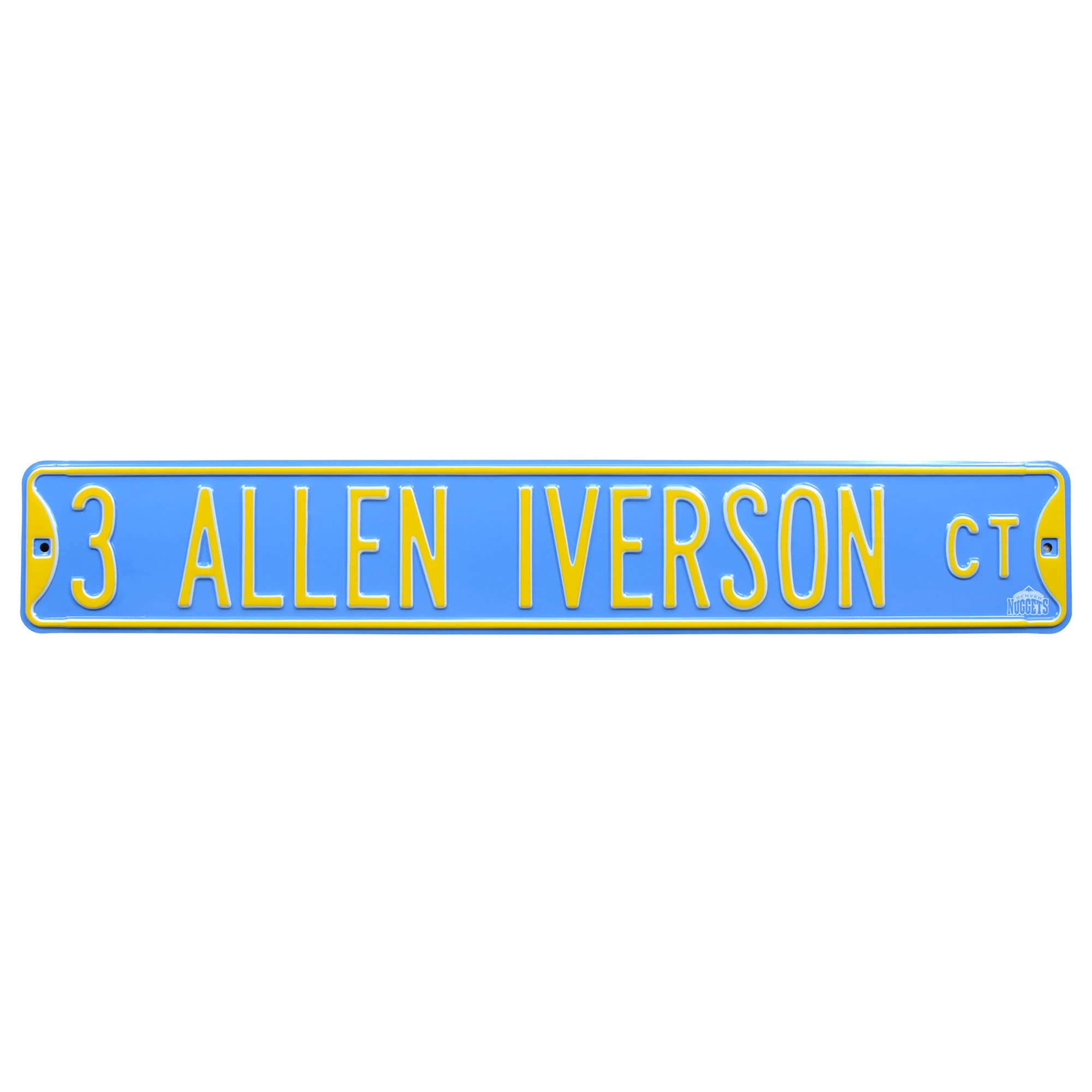 Allen Iverson Denver Nuggets Player Steel Street Sign