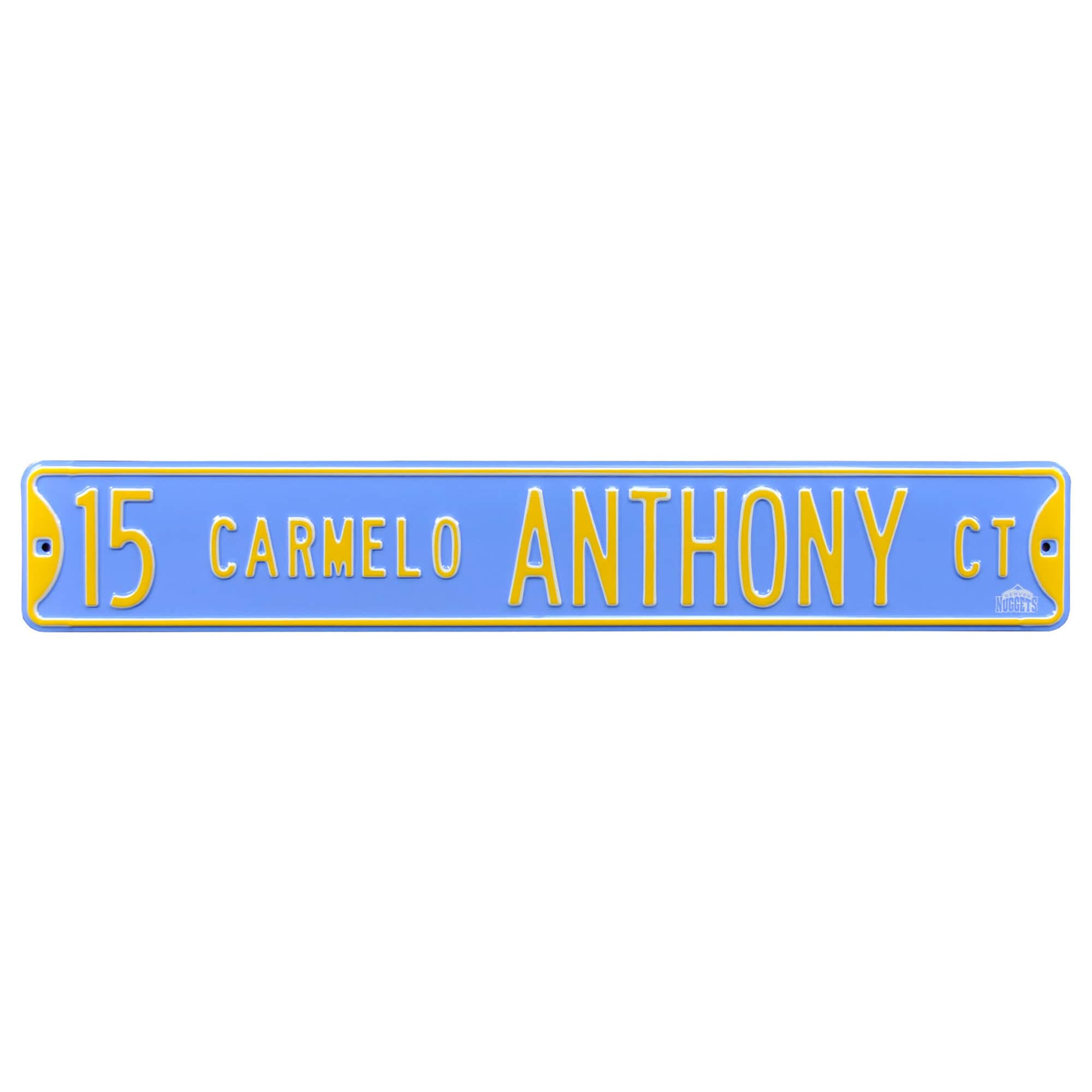 Carmelo Anthony Denver Nuggets Player Steel Street Sign
