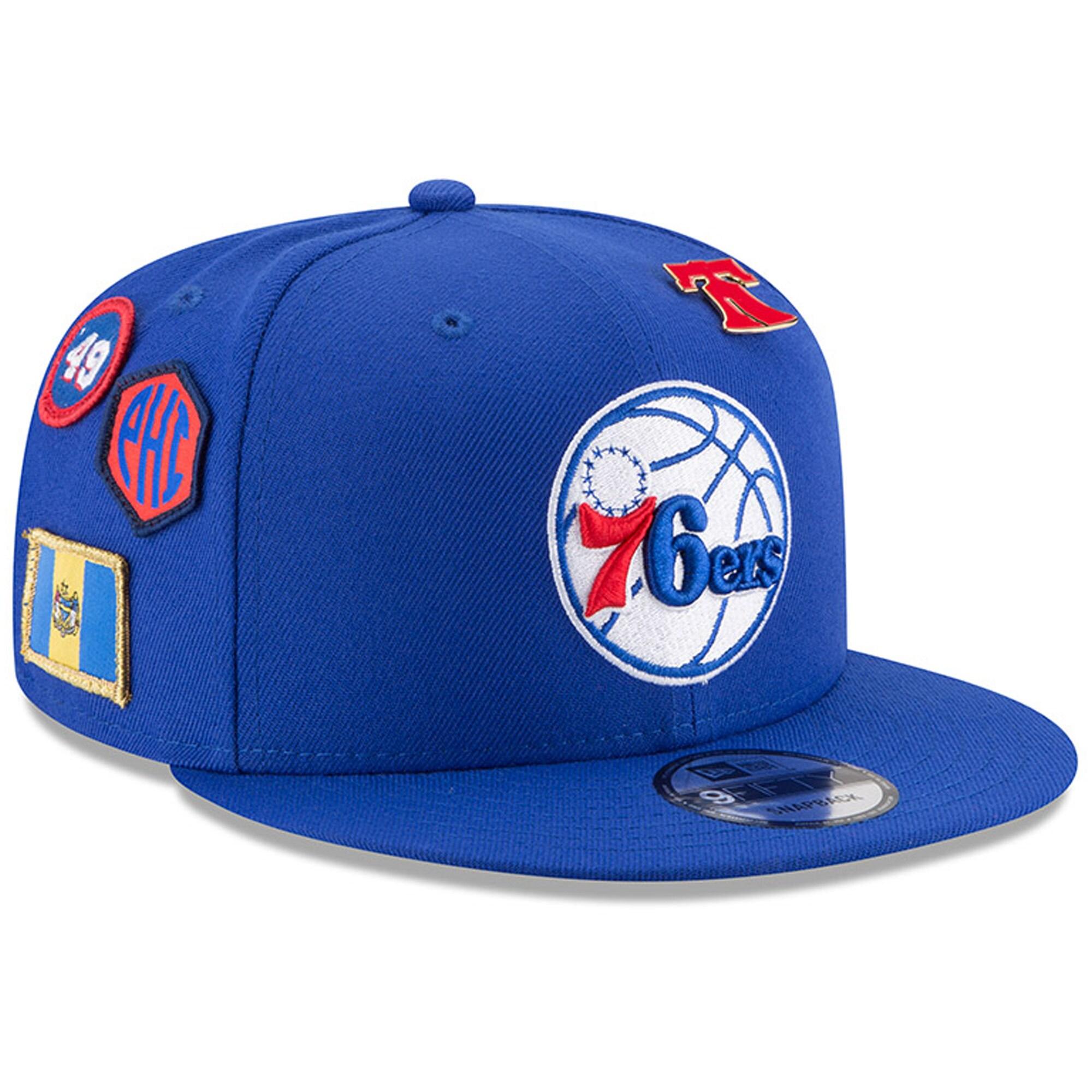Philadelphia 76ers New Era 2018 Draft 9FIFTY Adjustable Hat - Royal