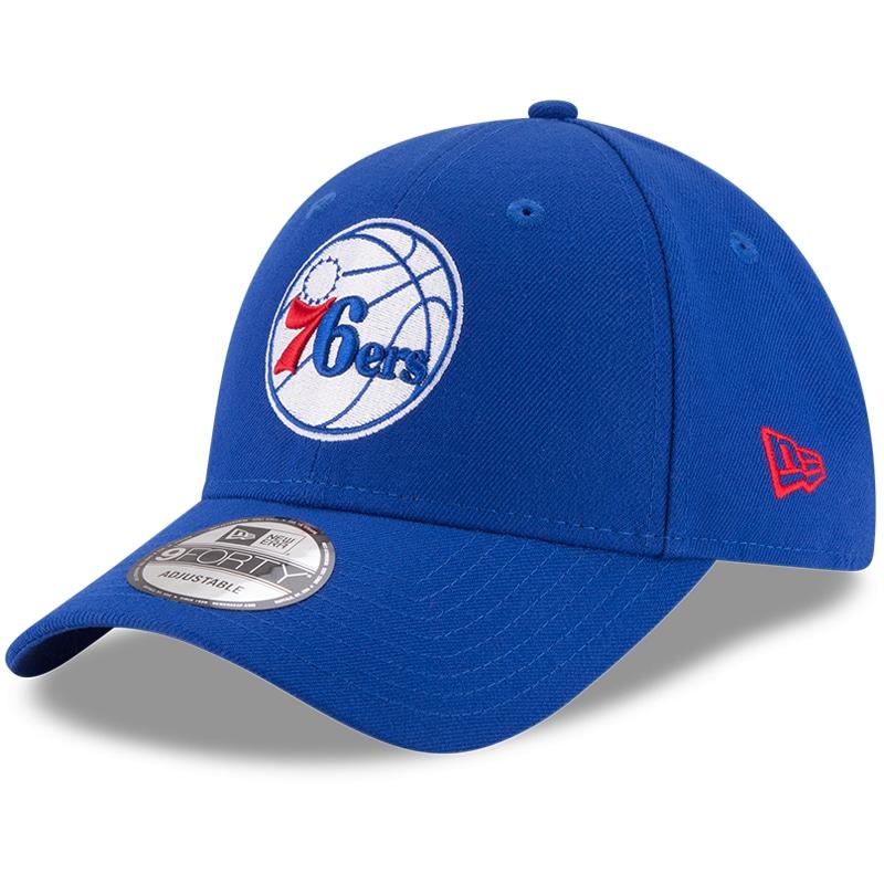 Philadelphia 76ers New Era Official Team Color 9FORTY Adjustable Hat - Royal