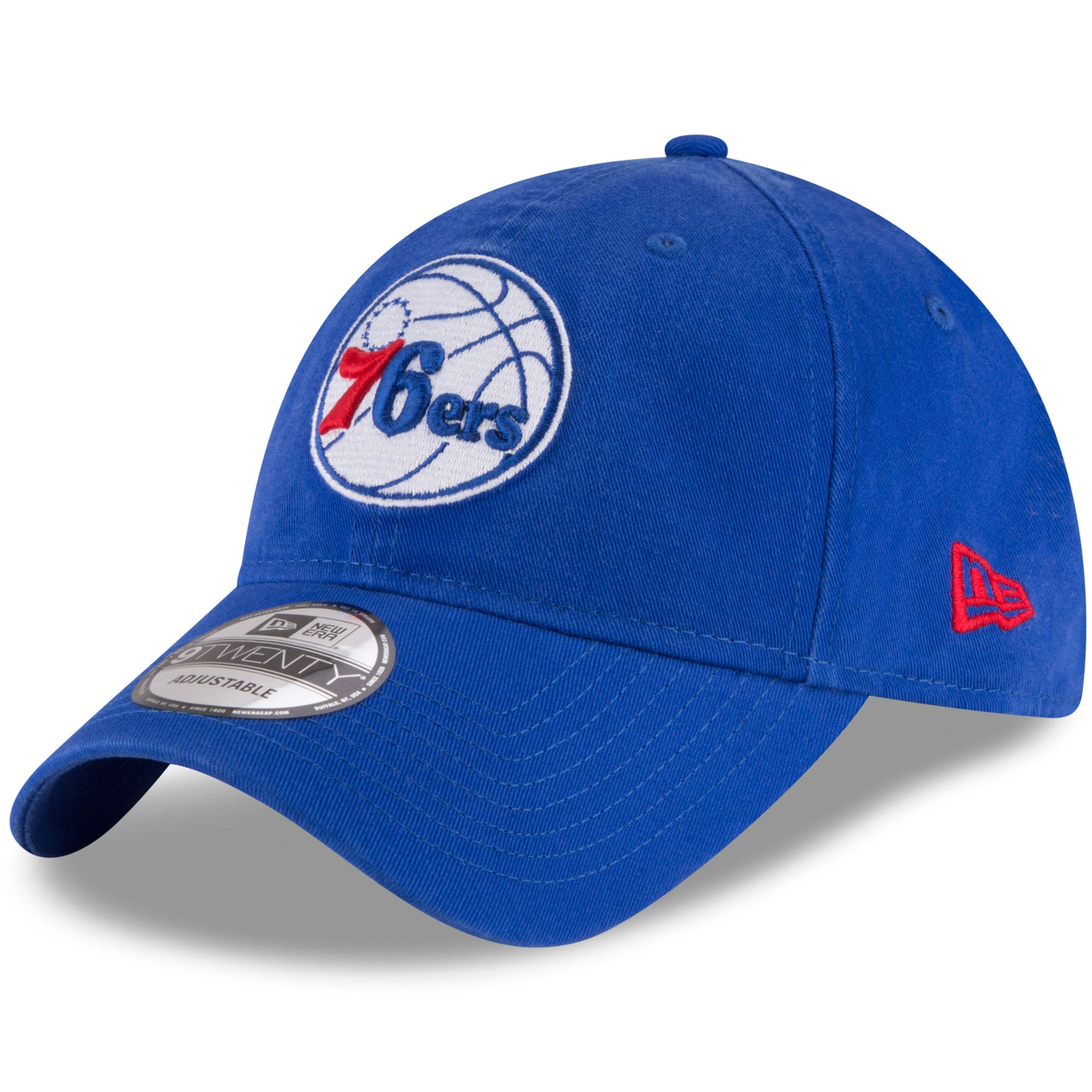 Philadelphia 76ers New Era Official Team Color 9TWENTY Adjustable Hat - Royal
