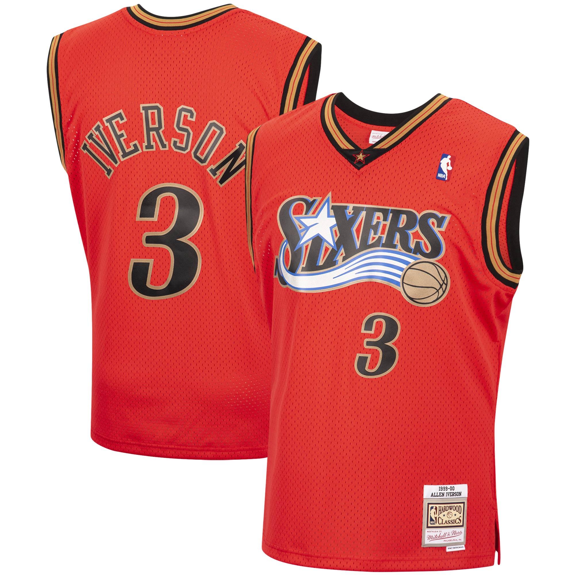 Allen Iverson Philadelphia 76ers Mitchell & Ness 1999-00 Hardwood Classics Reload Swingman Jersey - Red