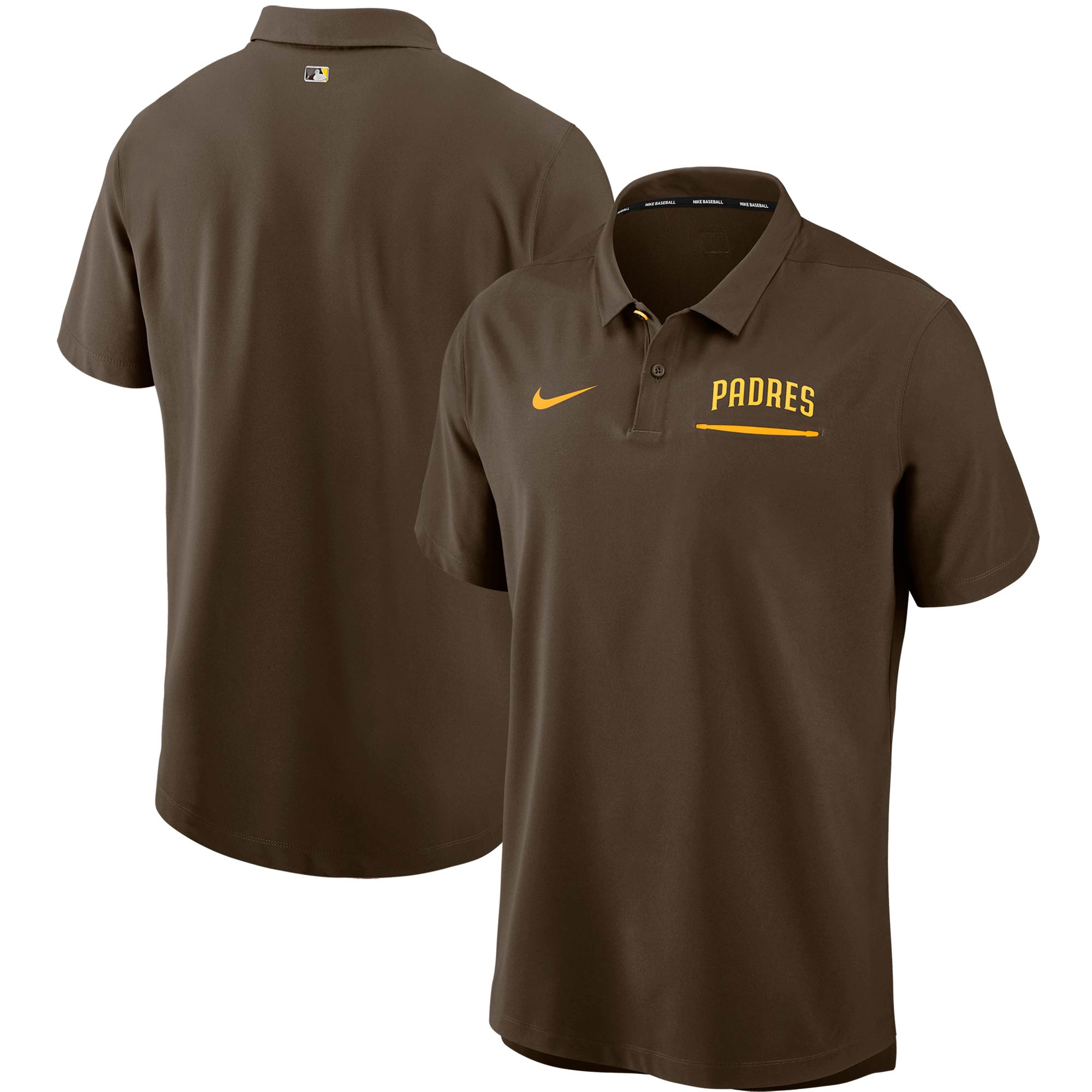 San Diego Padres Nike Authentic Collection Performance Polo - Brown