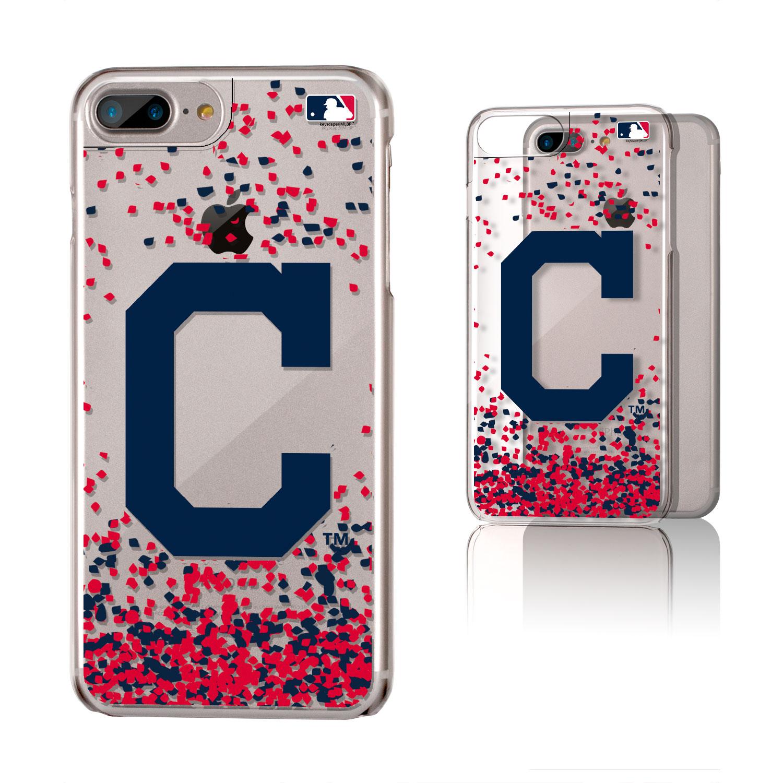 Cleveland Indians Galaxy iPhone 6 Plus/6S Plus/7 Plus/8 Plus Confetti Design Clear Case