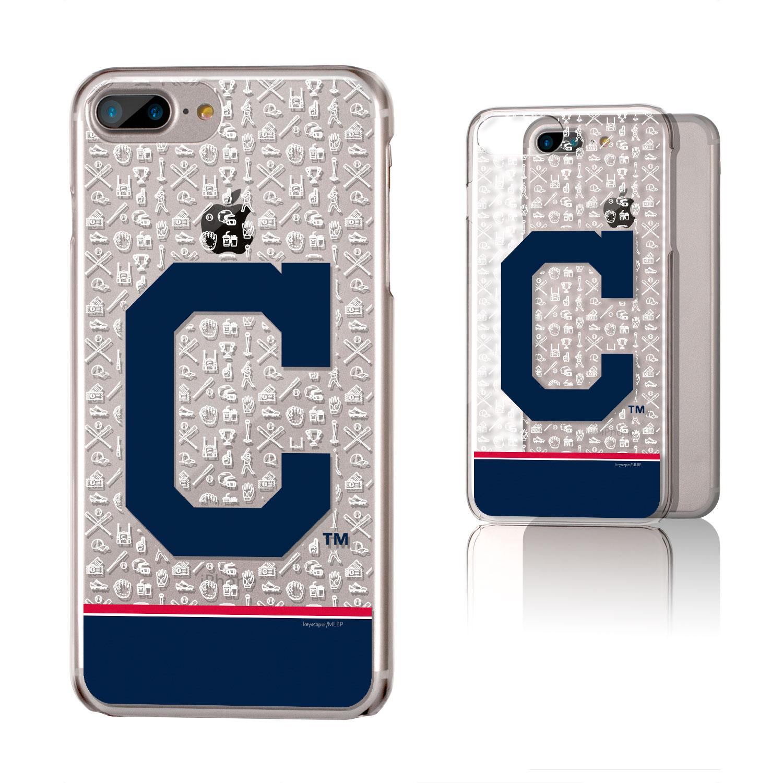 Cleveland Indians iPhone 6 Plus/6s Plus/7 Plus/8 Plus Stripe Clear Case