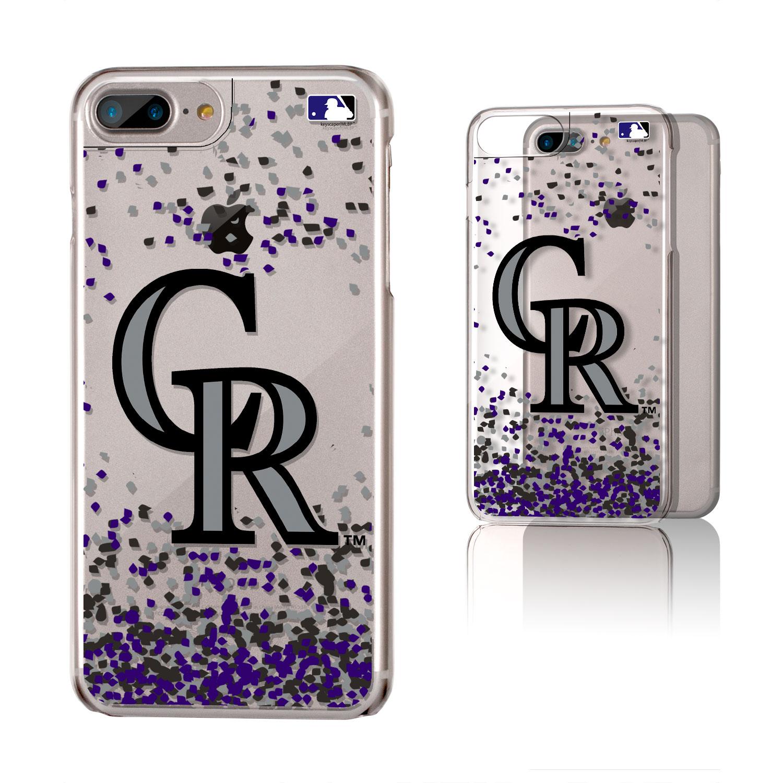 Colorado Rockies Galaxy iPhone 6 Plus/6S Plus/7 Plus/8 Plus Confetti Design Clear Case