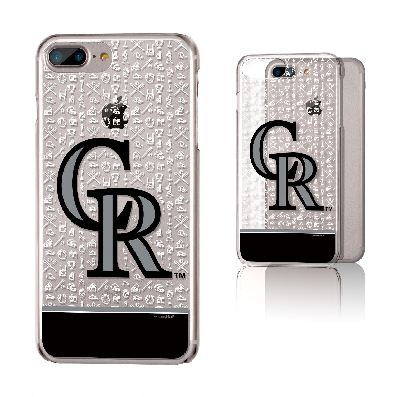 Colorado Rockies iPhone 6 Plus/6s Plus/7 Plus/8 Plus Stripe Clear Case