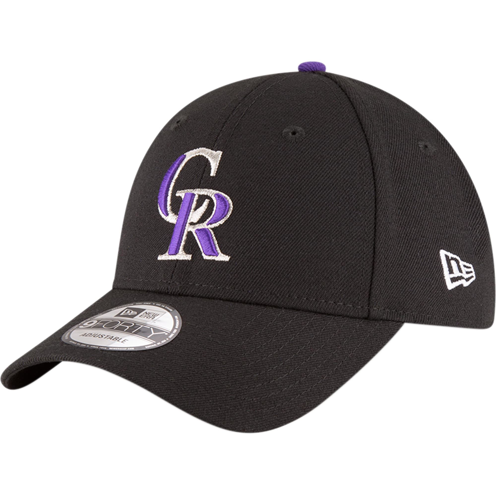 Colorado Rockies New Era Game The League 9FORTY Adjustable Hat - Black