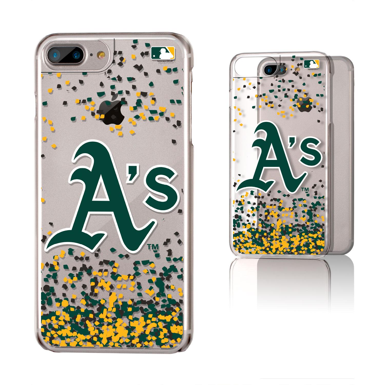 Oakland Athletics Galaxy iPhone 6 Plus/6S Plus/7 Plus/8 Plus Confetti Design Clear Case