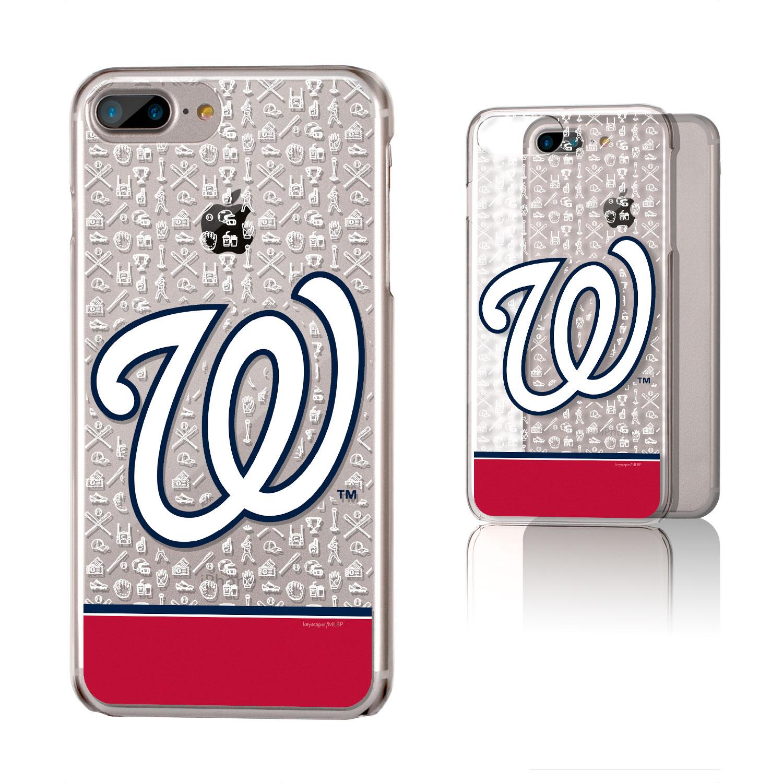 Washington Nationals iPhone 6 Plus/6s Plus/7 Plus/8 Plus Stripe Clear Case