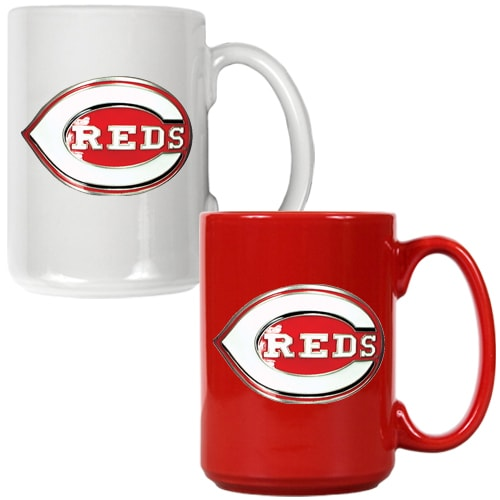 Cincinnati Reds 15oz. Coffee Mug Set