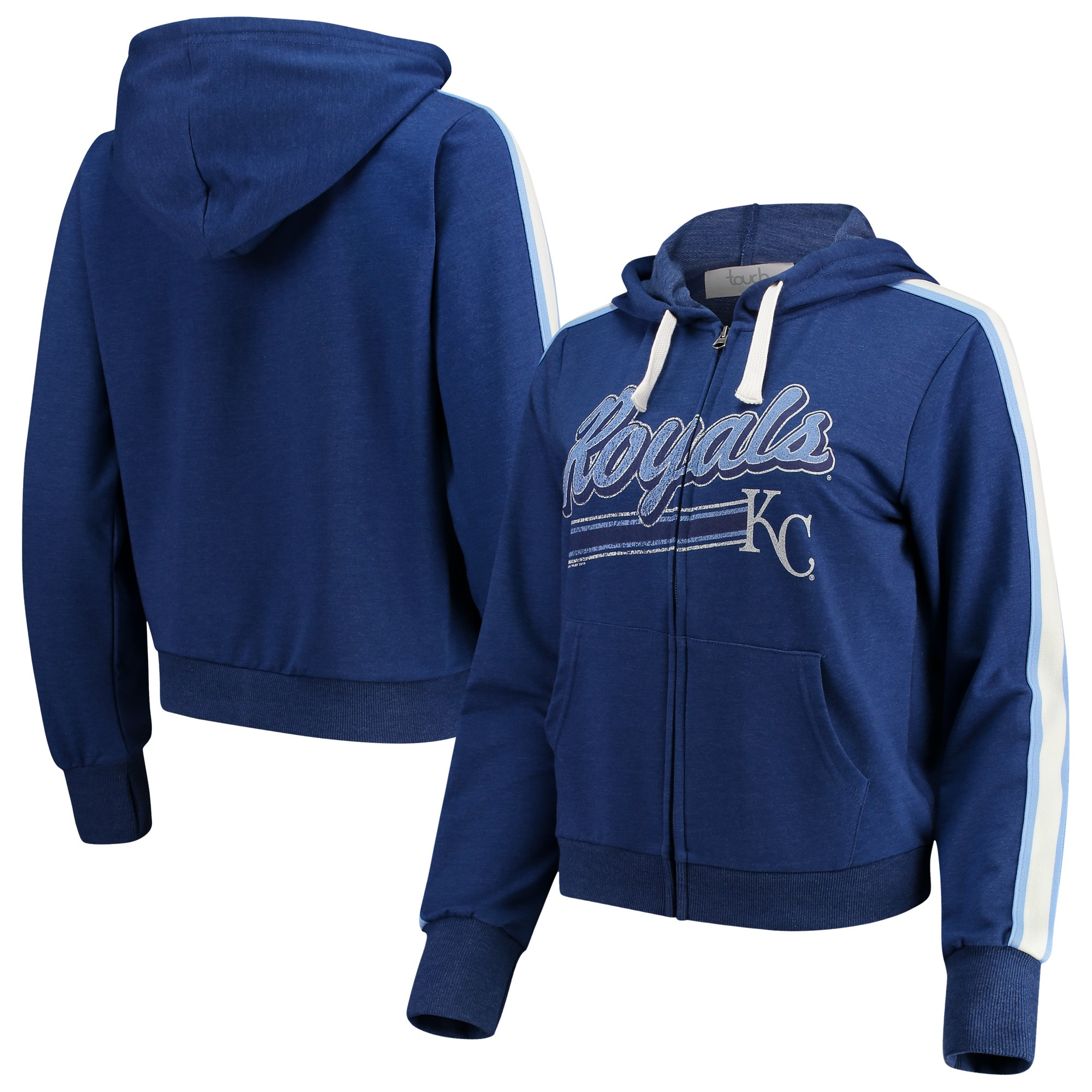 Kansas City Royals Touch by Alyssa Milano Women's Conference Full-Zip Hoodie - Royal