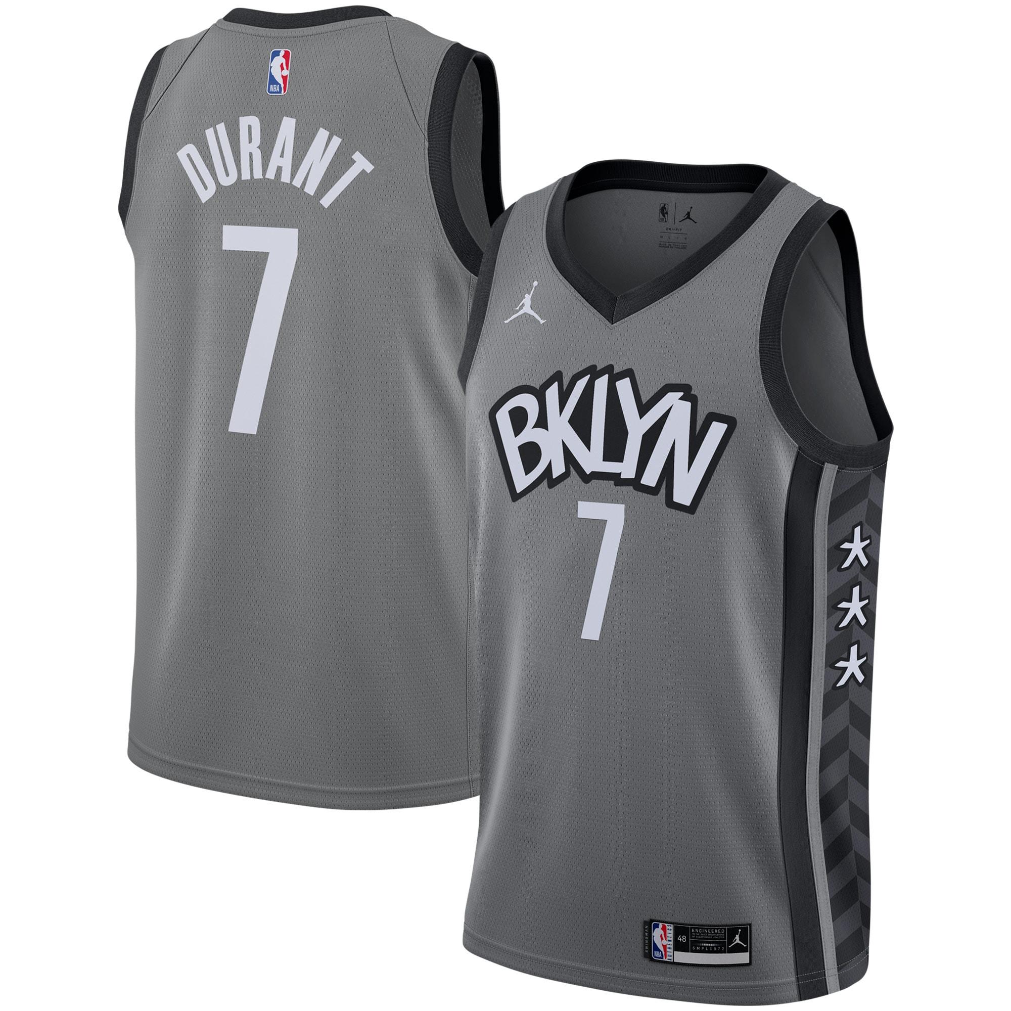 Kevin Durant Brooklyn Nets Jordan Brand 2020/21 Swingman Jersey - Statement Edition - Gray
