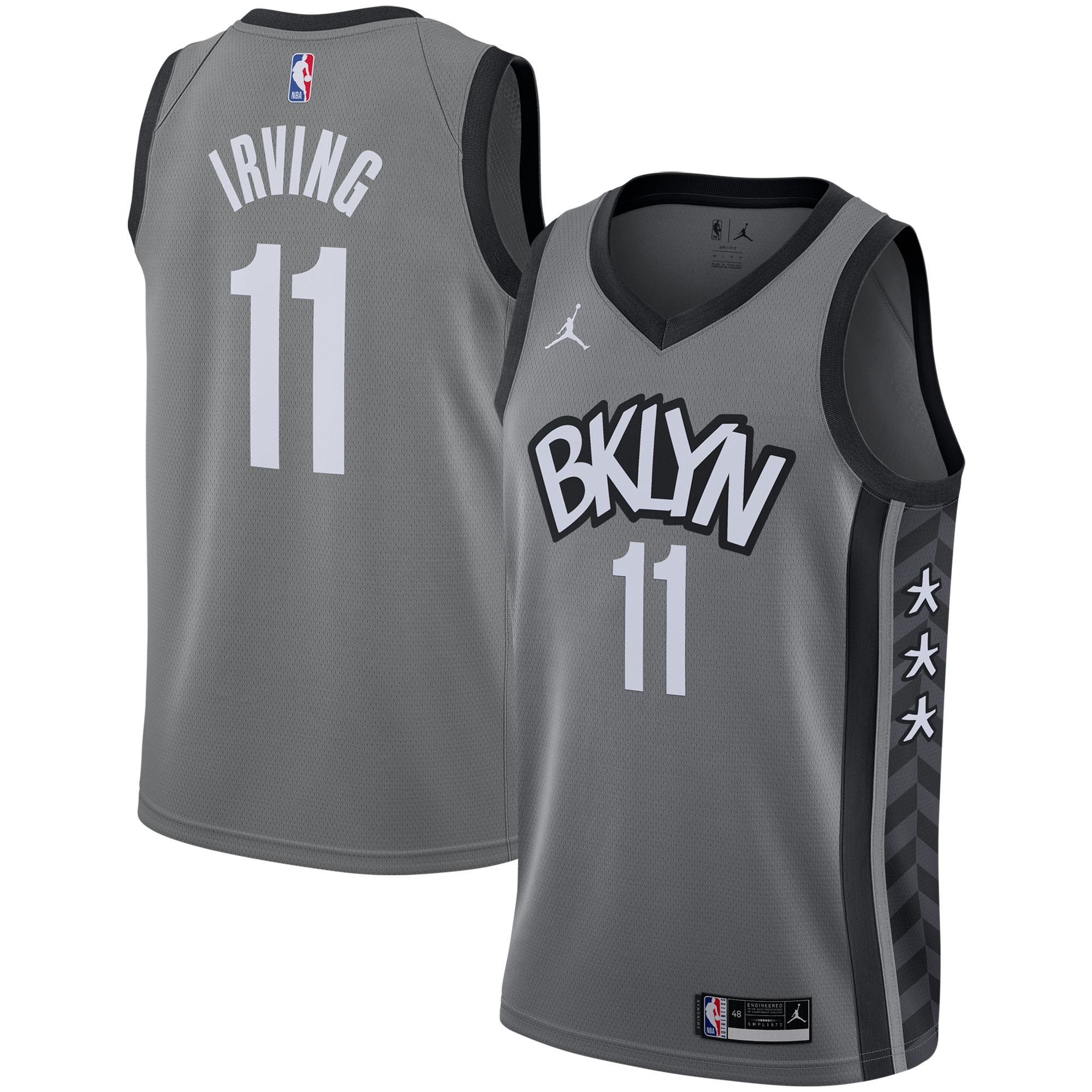 Kyrie Irving Brooklyn Nets Jordan Brand 2020/21 Swingman Jersey - Statement Edition - Gray