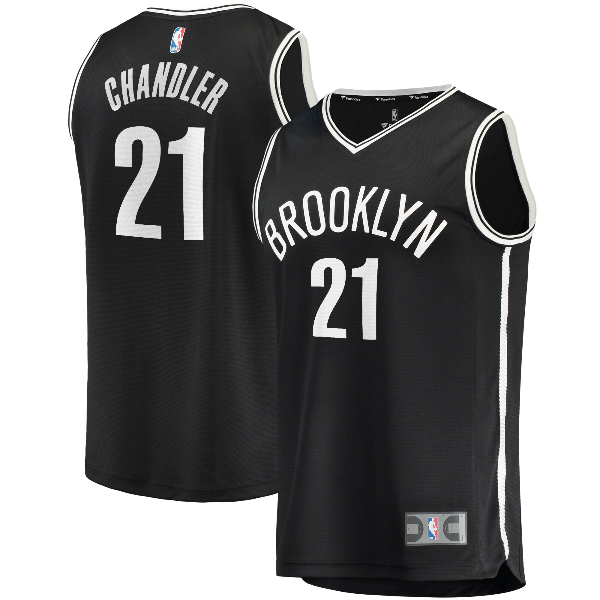 Wilson Chandler Brooklyn Nets Fanatics Branded Youth Fast Break Replica Jersey Black - Icon Edition