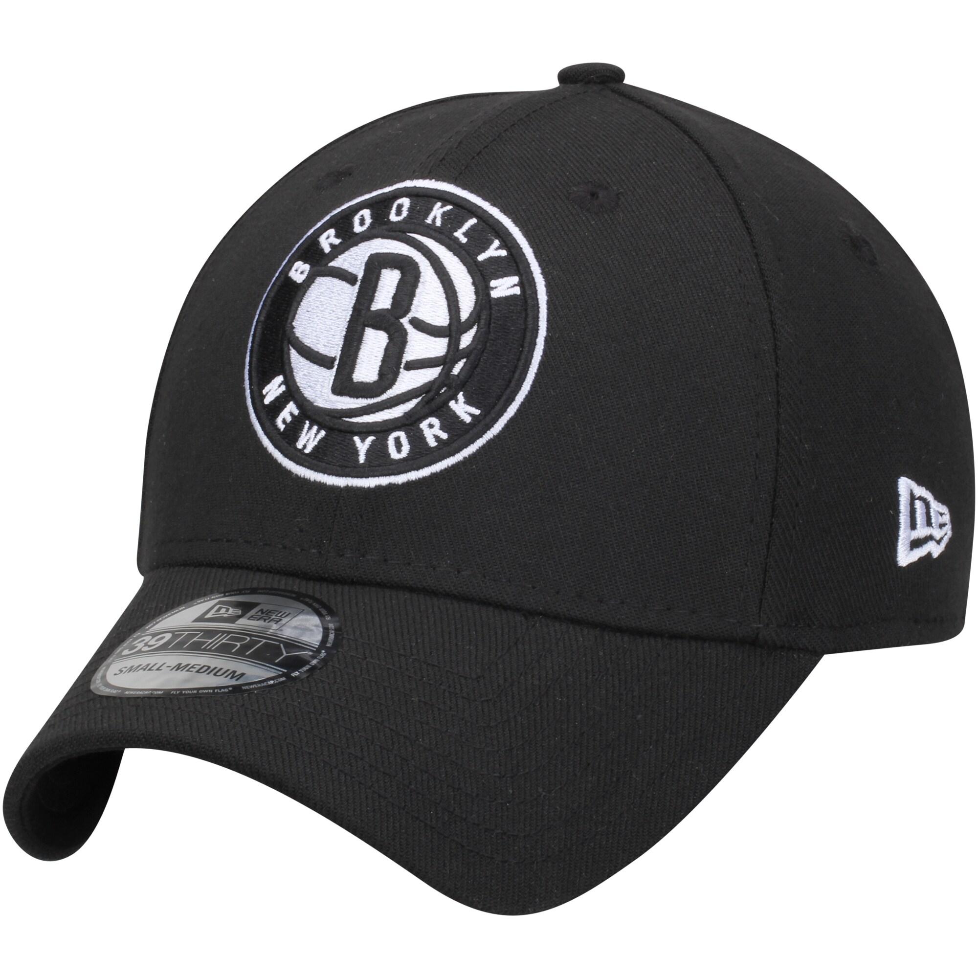 Brooklyn Nets New Era Team Classic 39THIRTY Flex Hat - Black