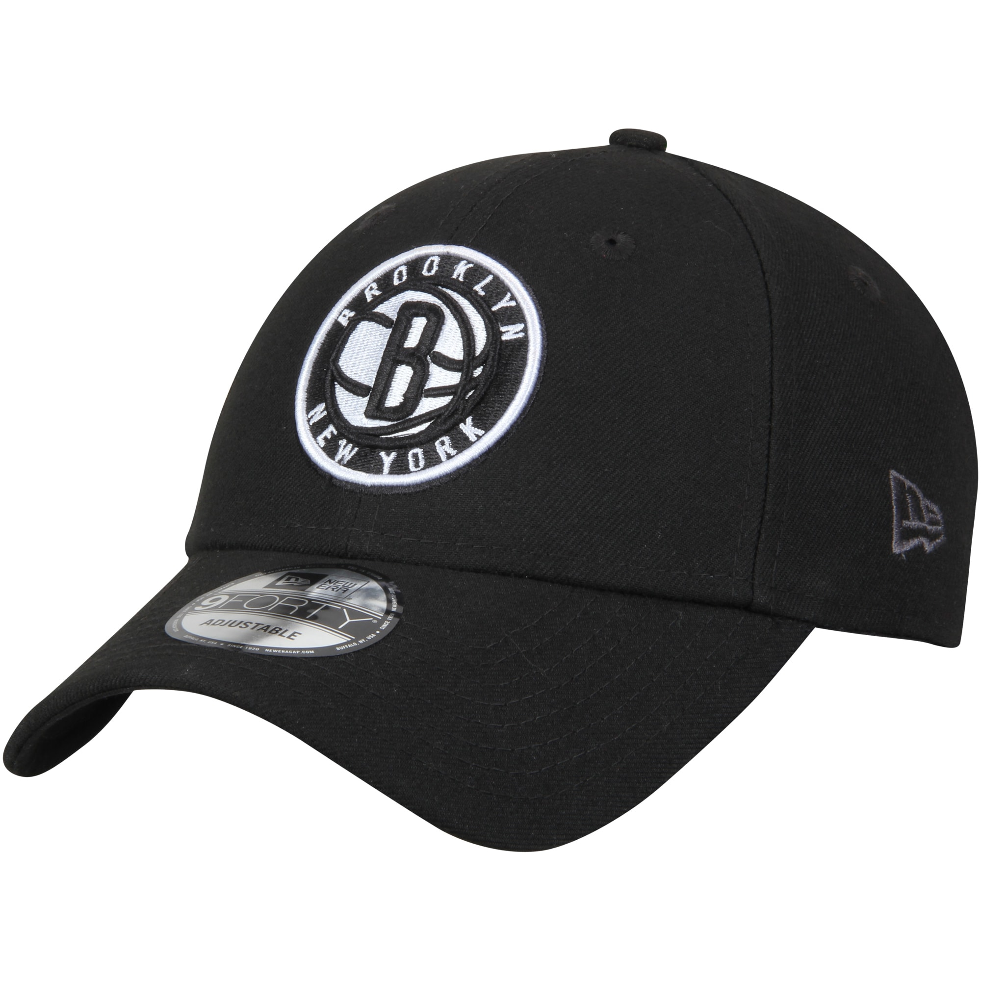 Brooklyn Nets New Era Official Team Color 9FORTY Adjustable Hat - Black