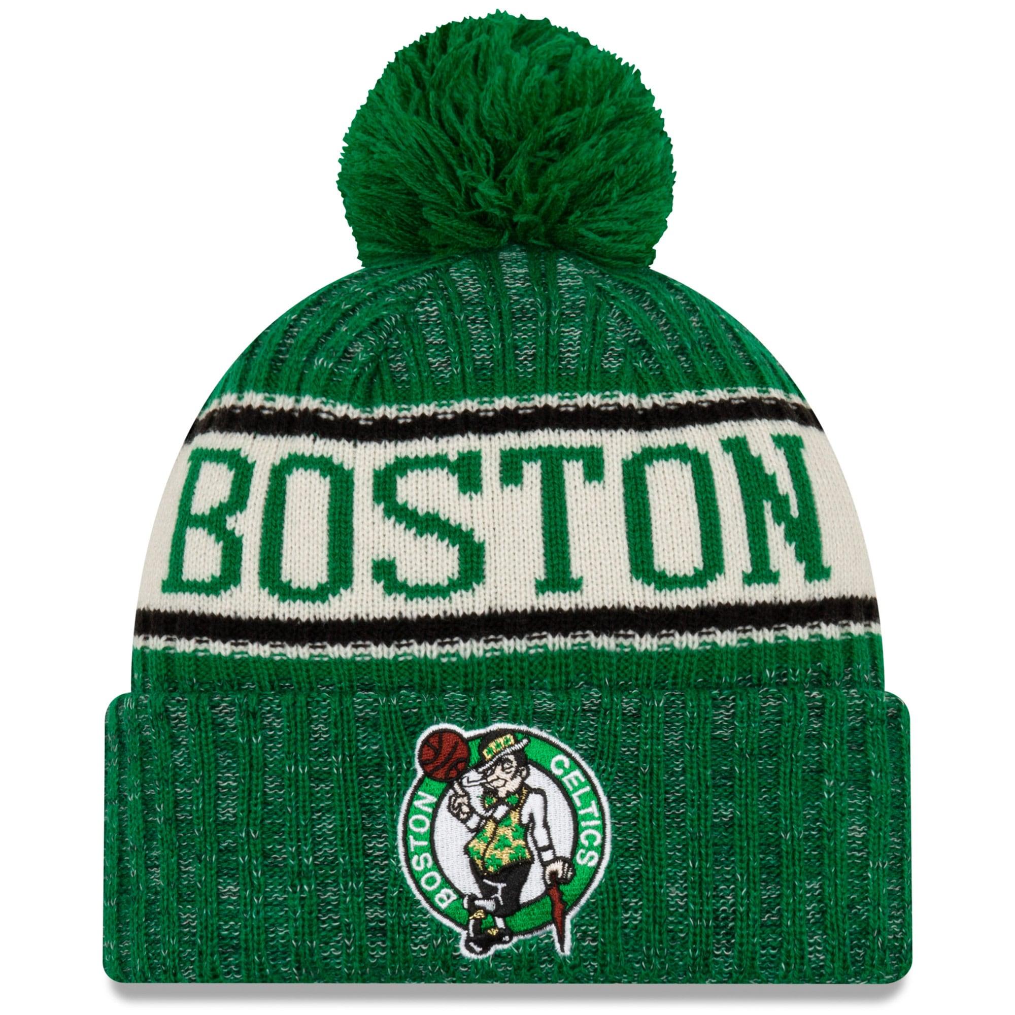 Boston Celtics New Era Sport Cuffed Knit Hat with Pom - Kelly Green