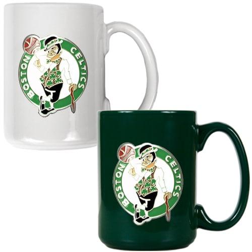 Boston Celtics 15oz. Coffee Mug Set
