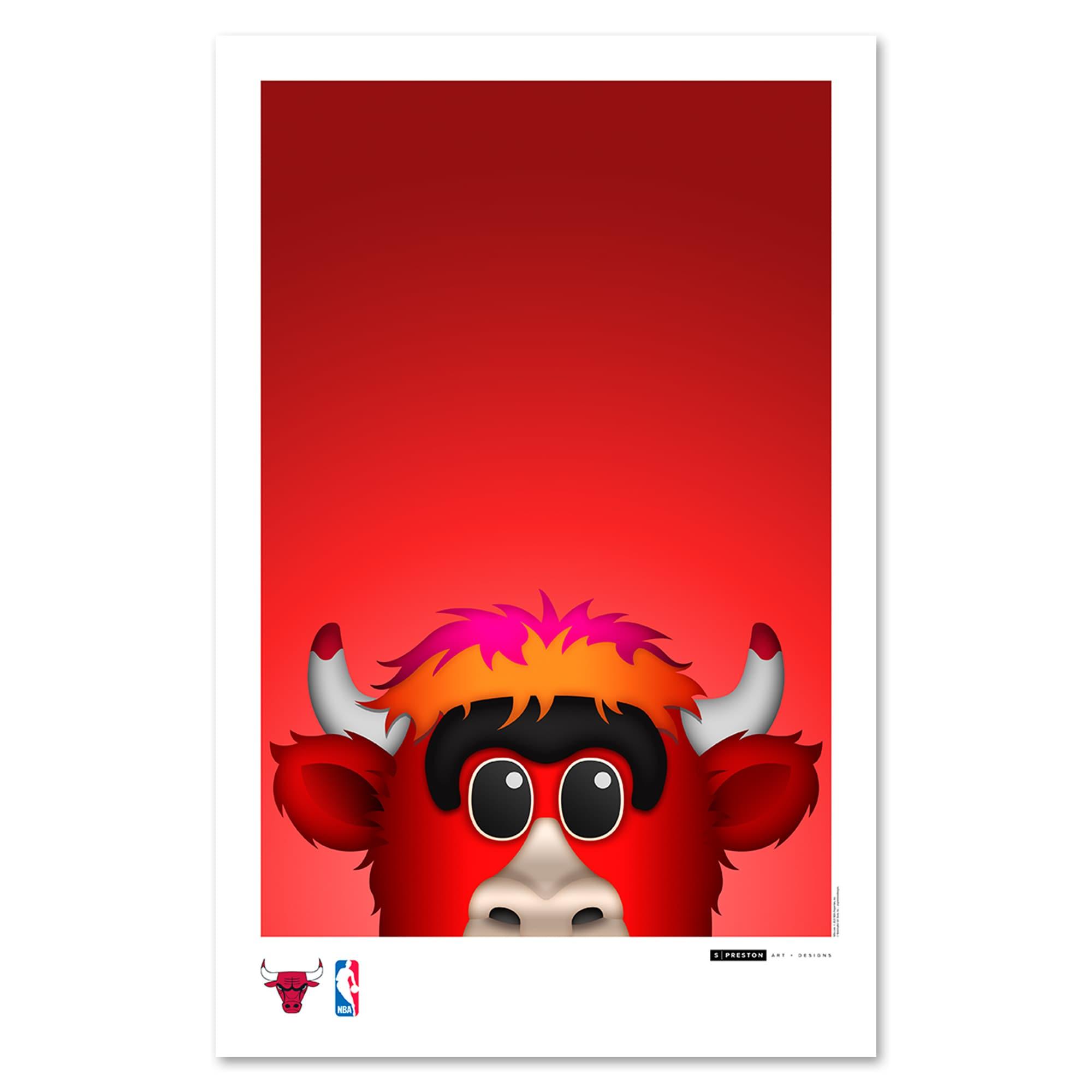 Chicago Bulls 11'' x 17'' Minimalist Mascot Art Poster