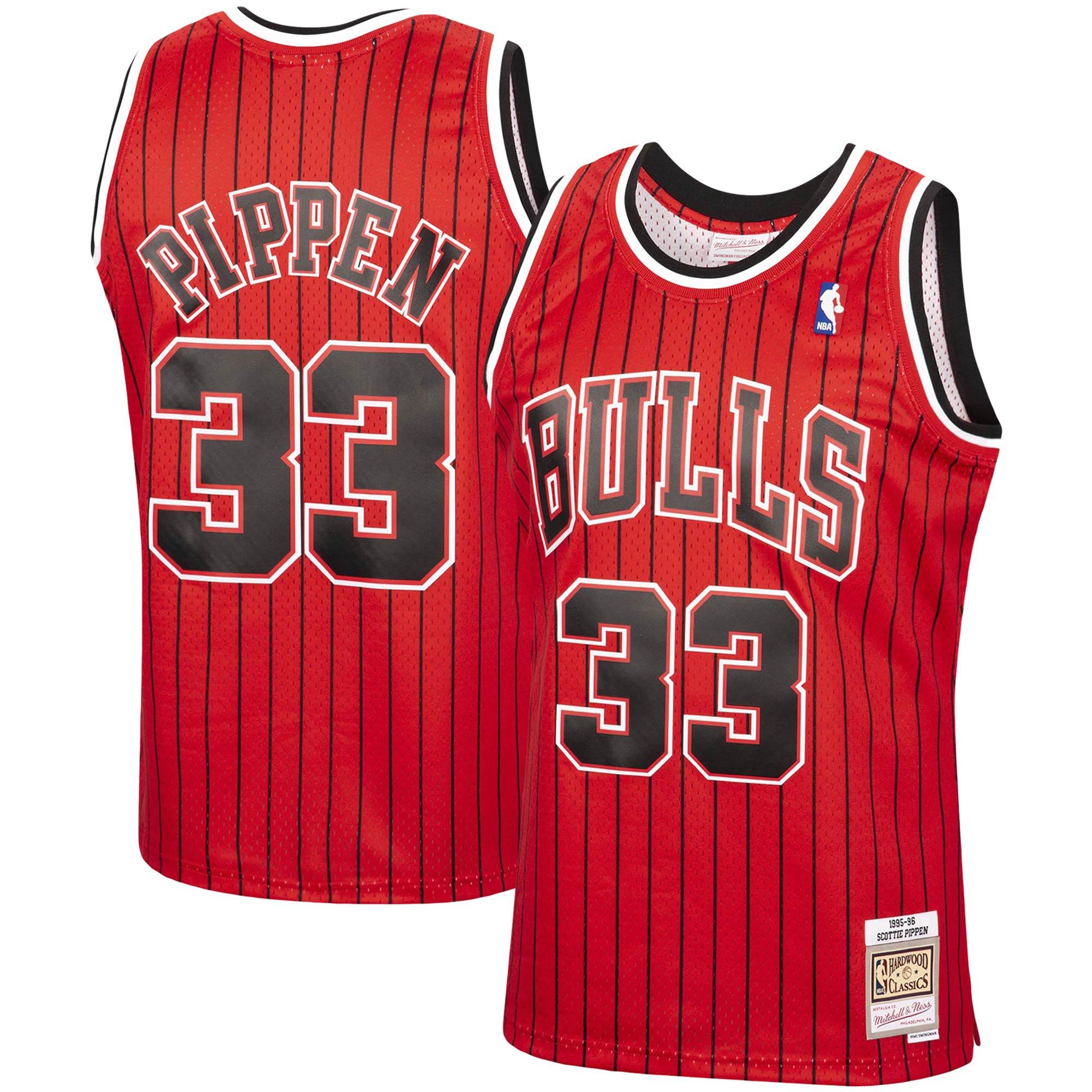 Scottie Pippen Chicago Bulls Mitchell & Ness 1995-96 Hardwood Classics Reload Swingman Jersey - Red