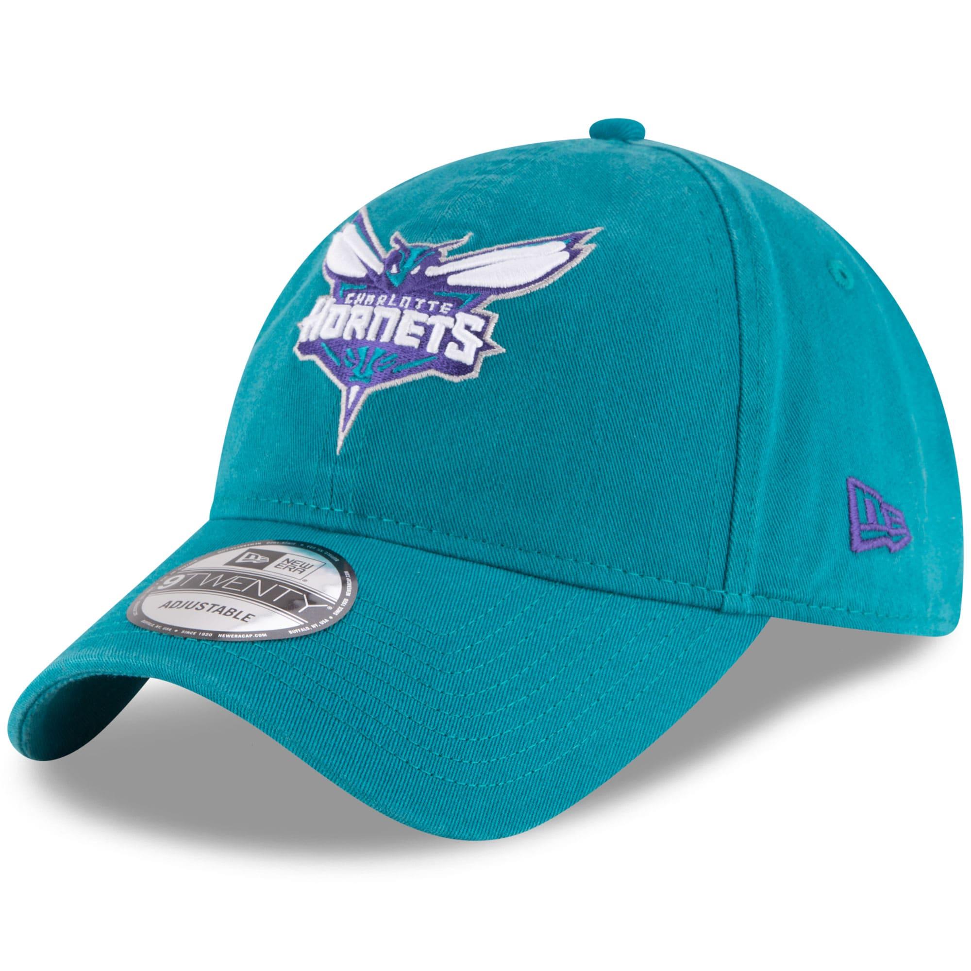 Charlotte Hornets New Era Official Team Color 9TWENTY Adjustable Hat - Teal