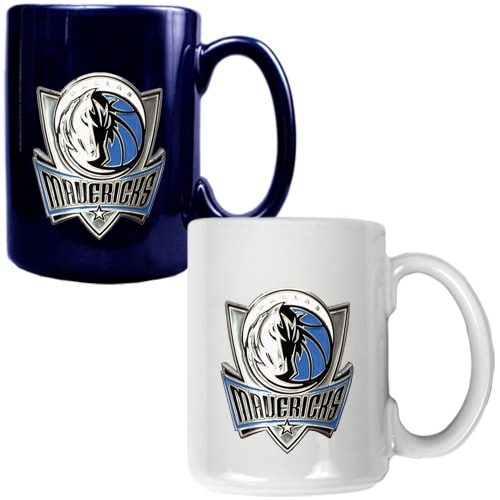 Dallas Mavericks 15oz. Coffee Mug Set - Navy/White