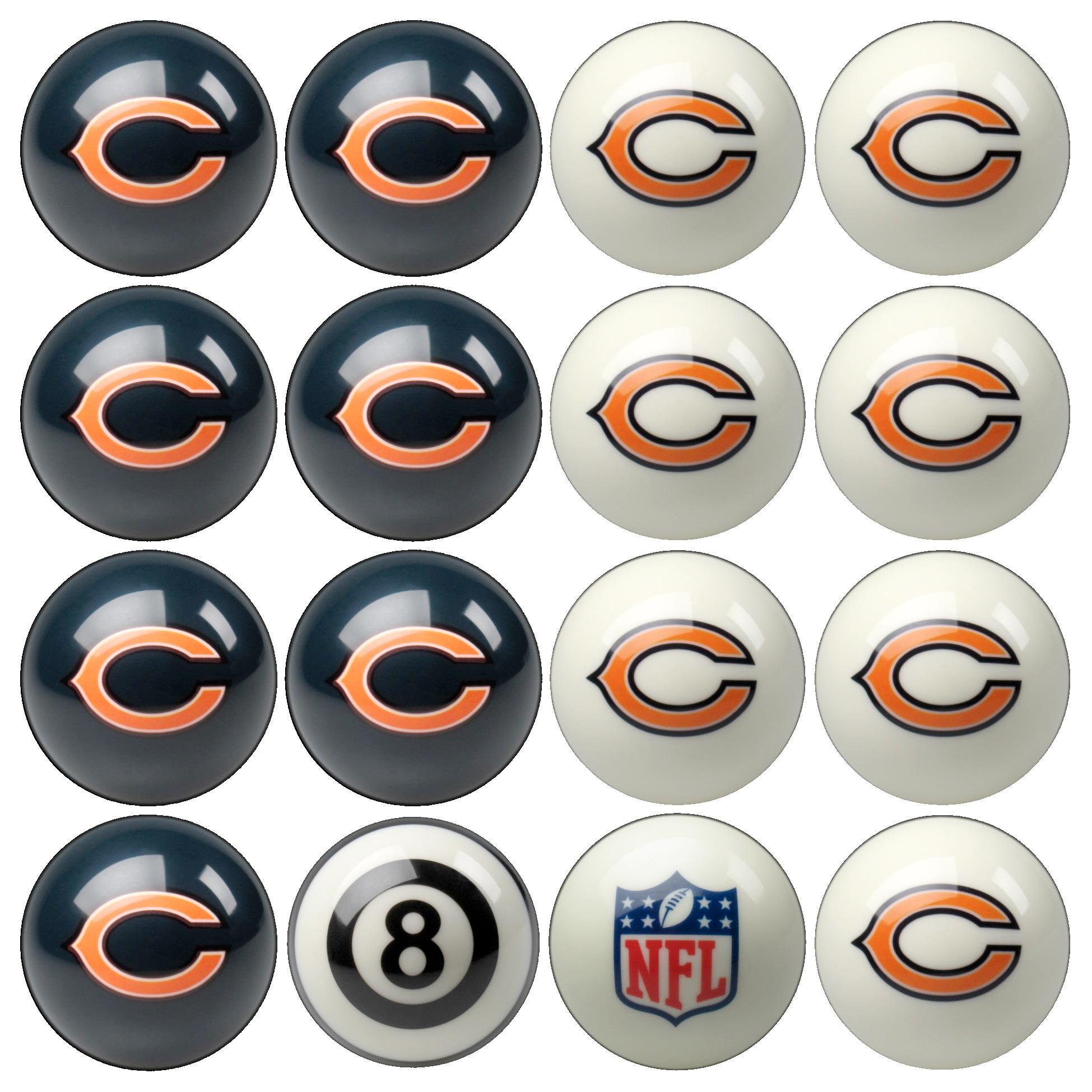Chicago Bears NFL Billiard Ball Set