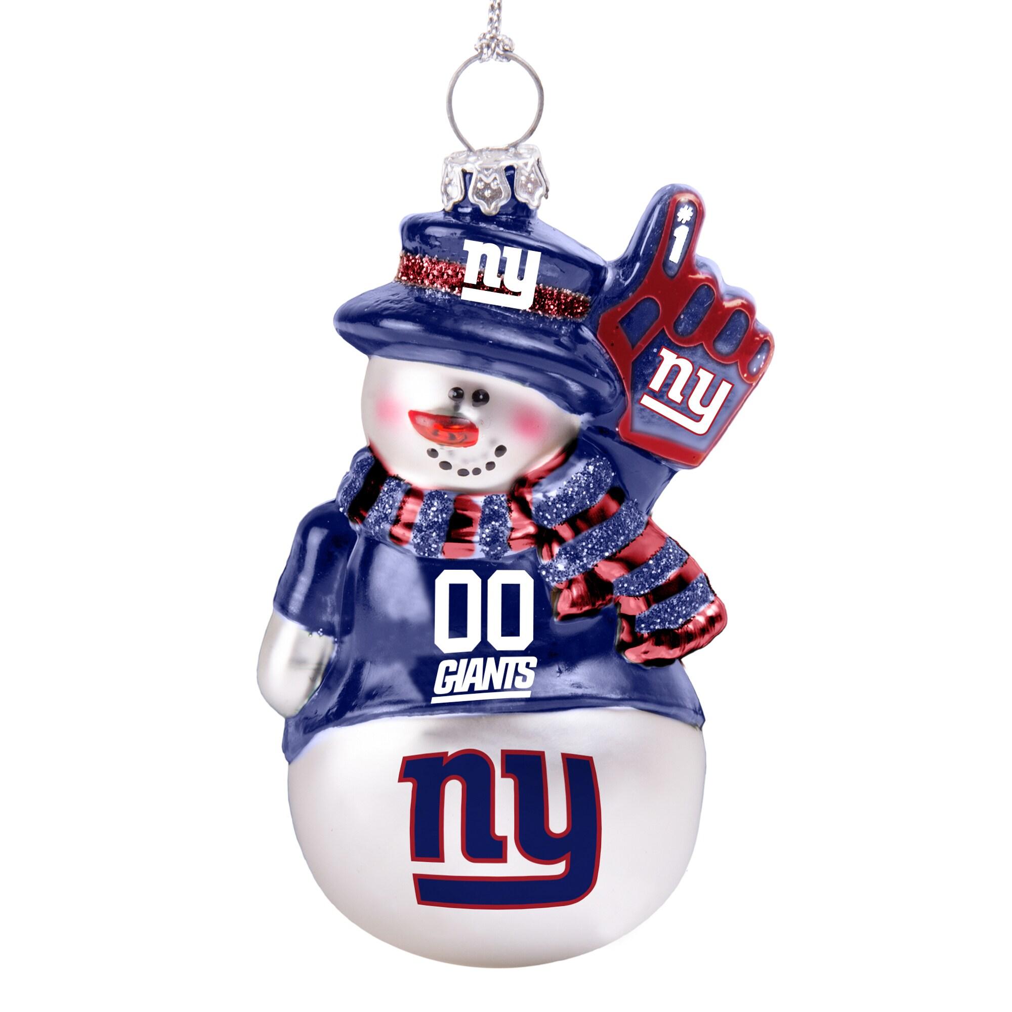 New York Giants Glitter Snowman Ornament