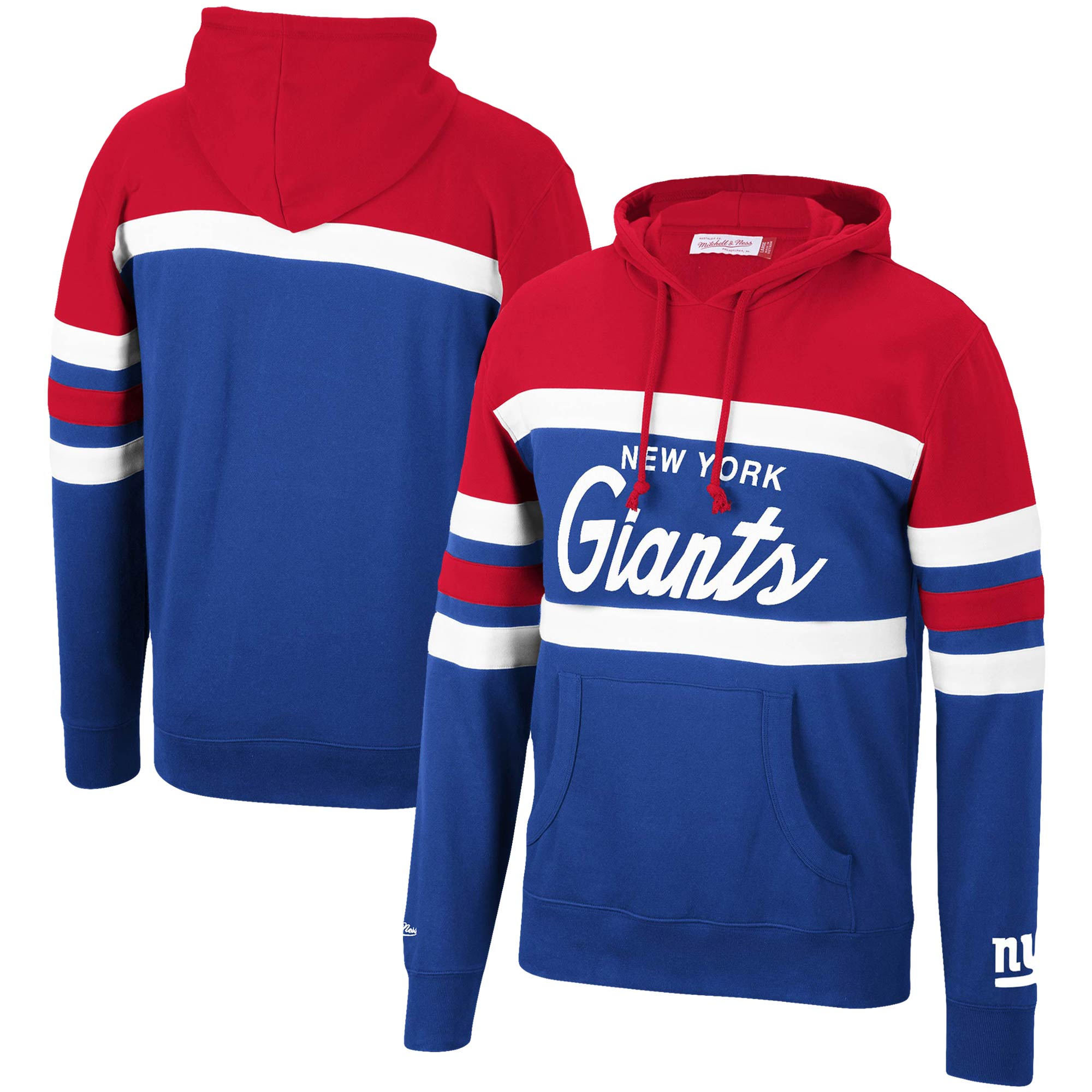 New York Giants Mitchell & Ness Head Coach Pullover Hoodie - Red