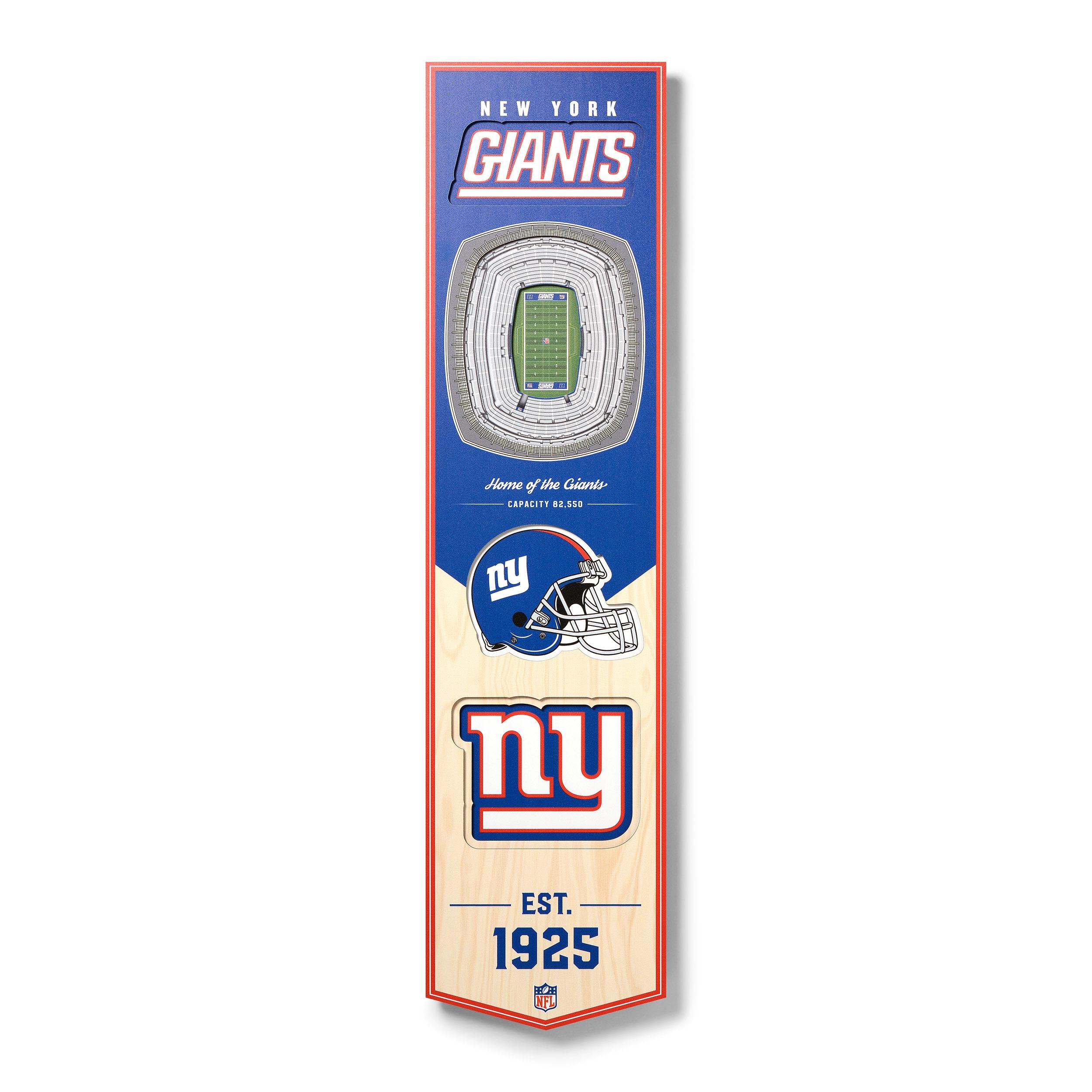 New York Giants 8'' x 32'' 3D StadiumView Banner