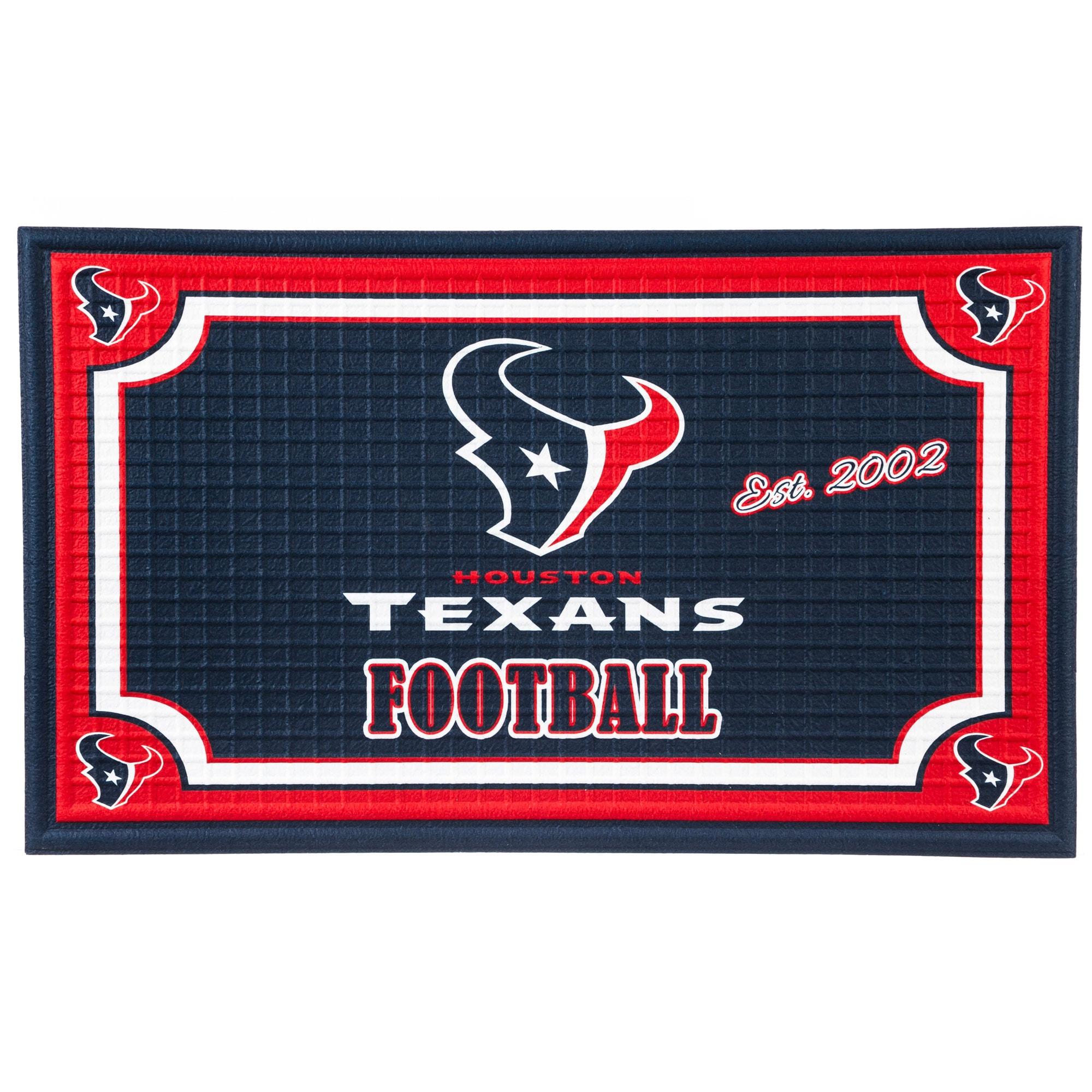Houston Texans Embossed Door Mat
