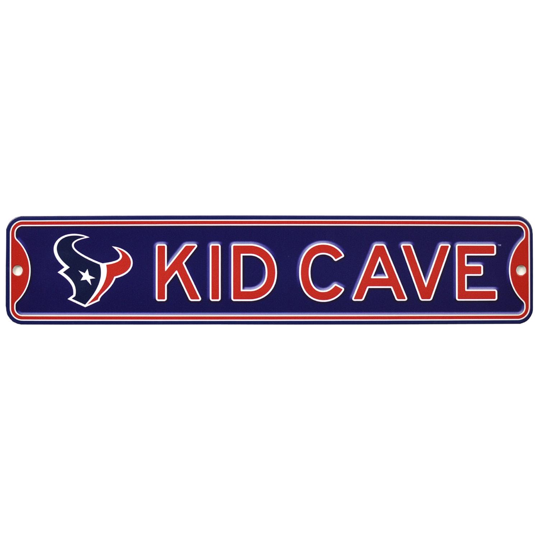 Houston Texans 16'' Mini Steel Kid Cave Street Sign