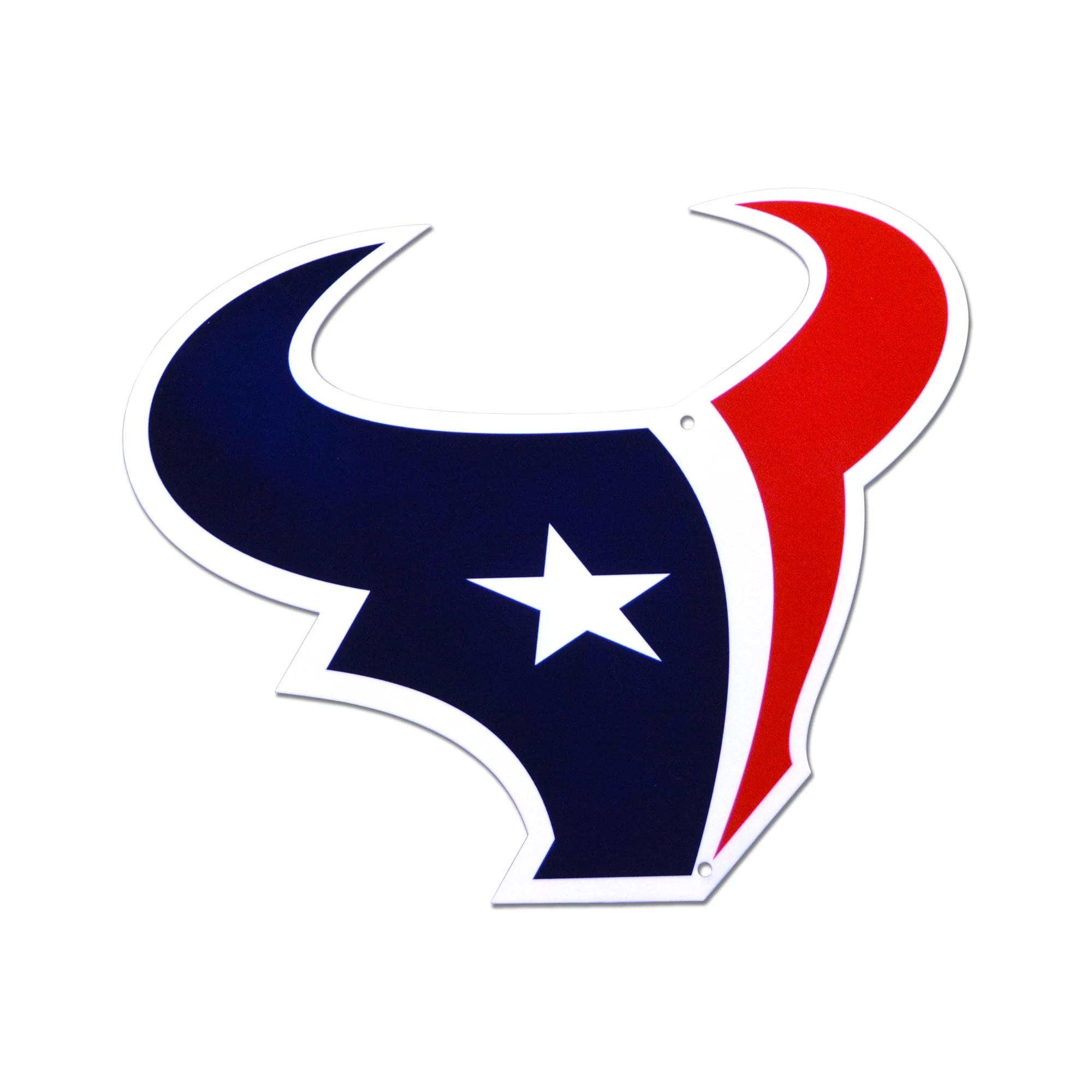 Houston Texans Statement Size Laser-Cut Steel Logo Wall Art