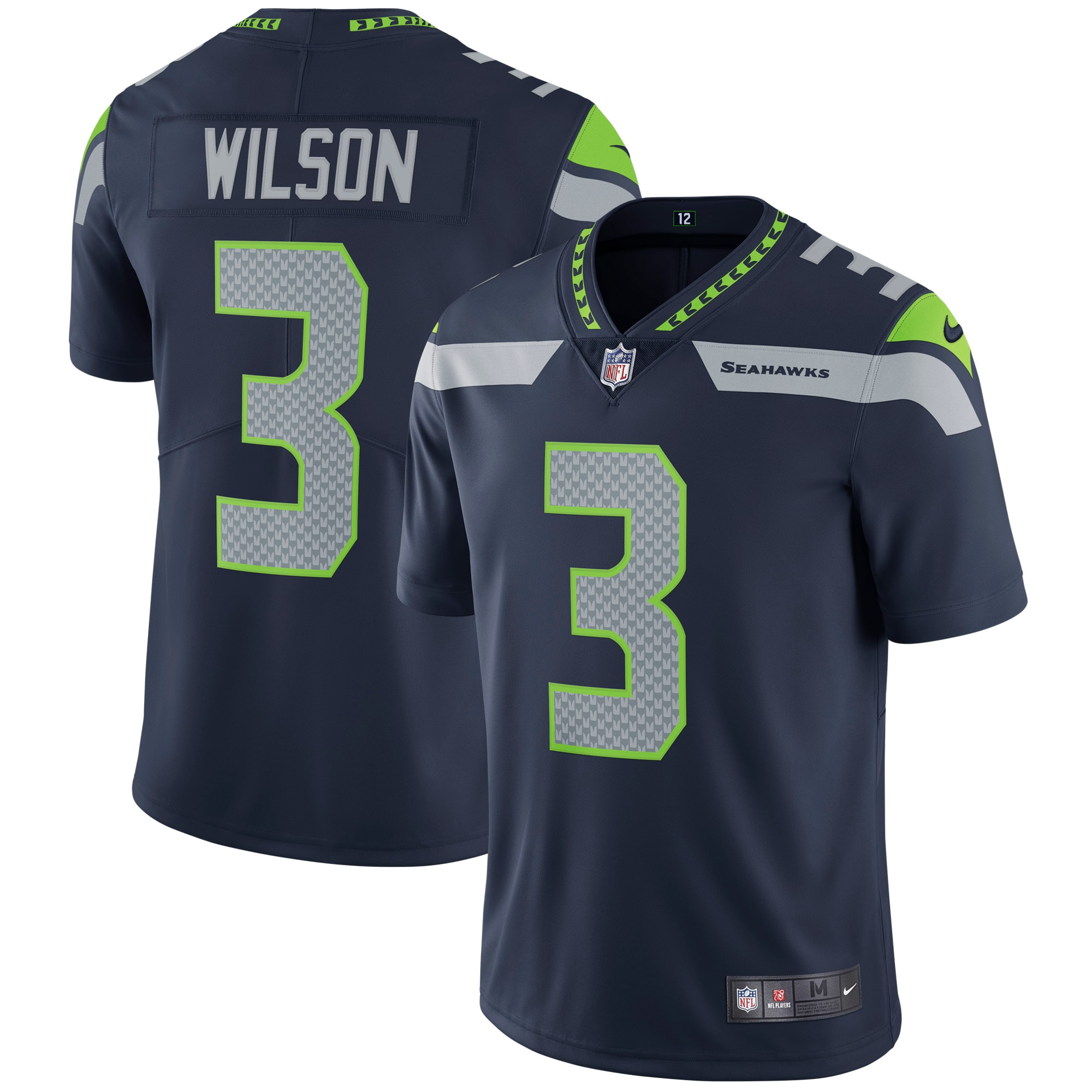 Russell Wilson Seattle Seahawks Nike Vapor Untouchable Limited Player Jersey - College Navy